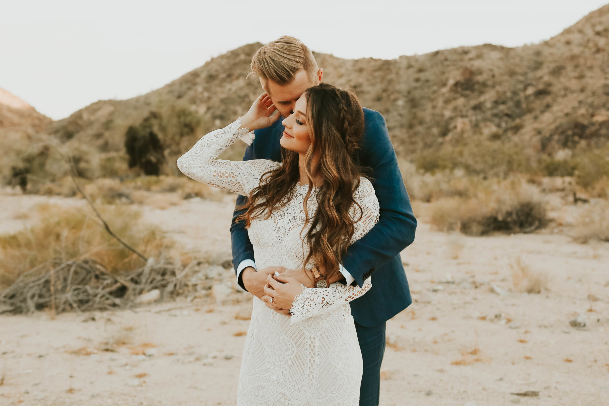 stephanie + caleb bridals - joshua tree national park, ca