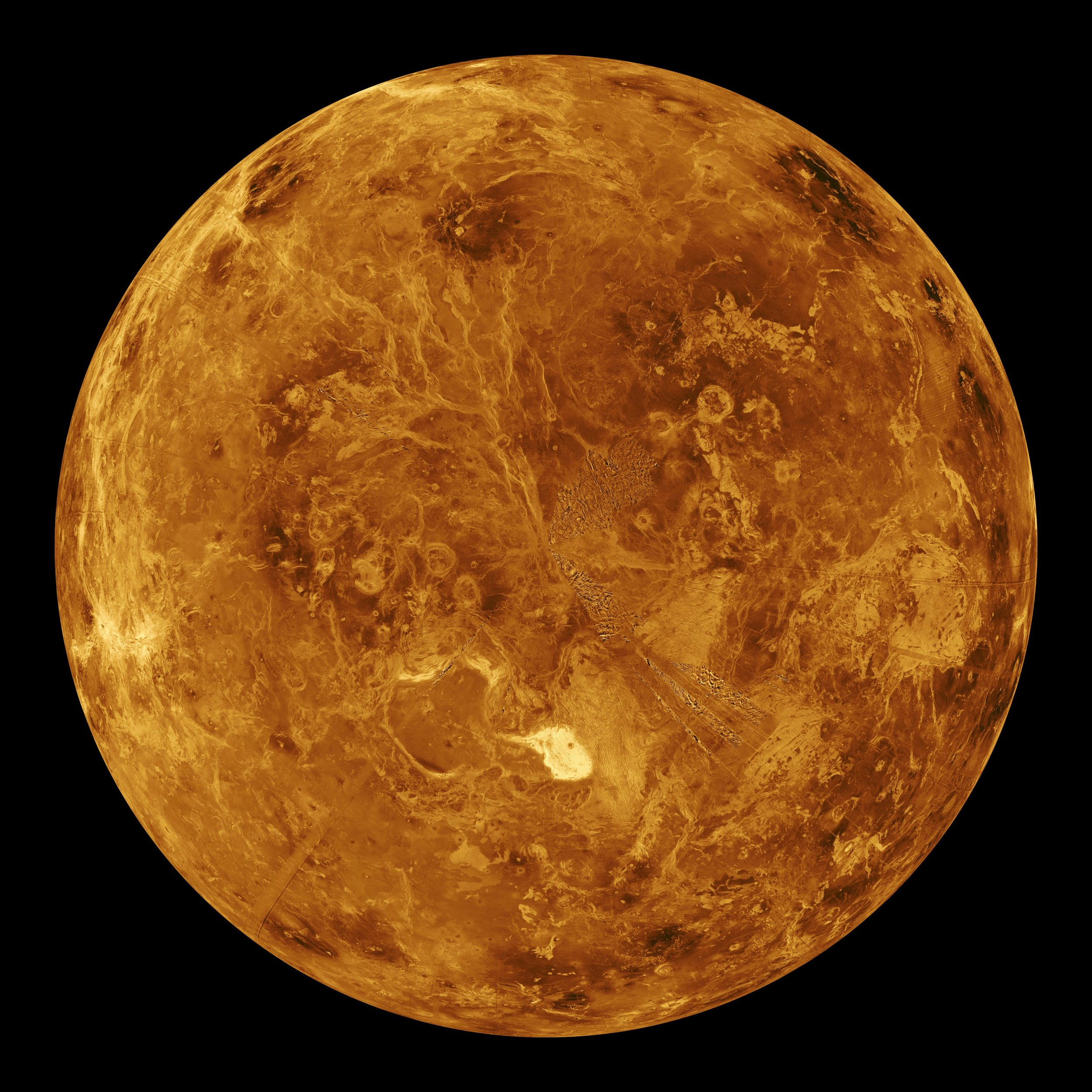 Image of Venus courtesy of NASA/JPL