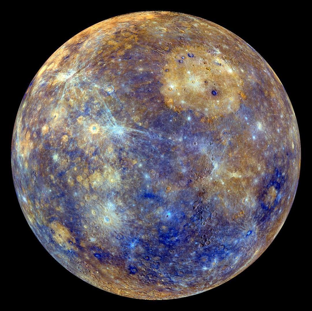 Image of Mercury courtesy of NASA/Johns Hopkins University Applied Physics Laboratory/Carnegie Institution of Washington