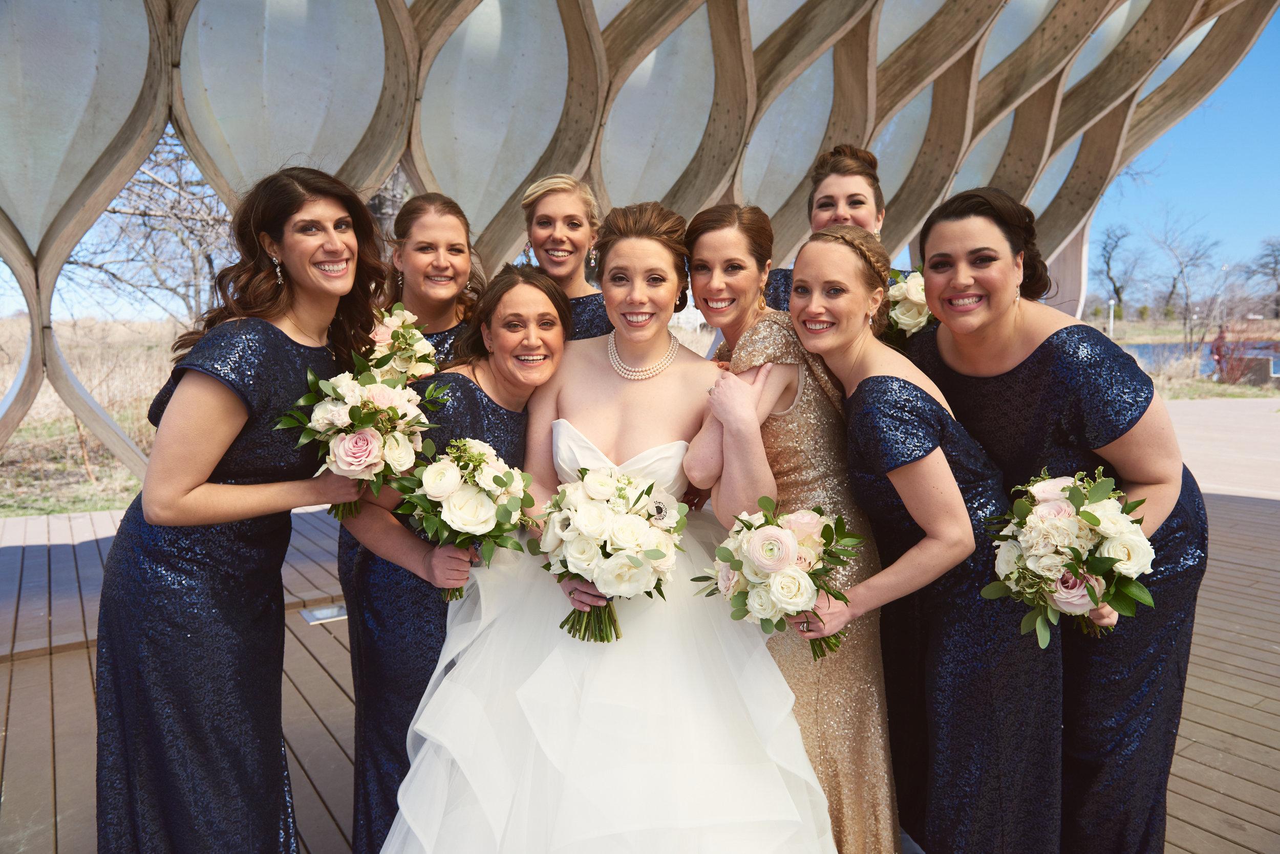 Bridal bouquet bridesmaids bouquet Lincoln Park Chicago