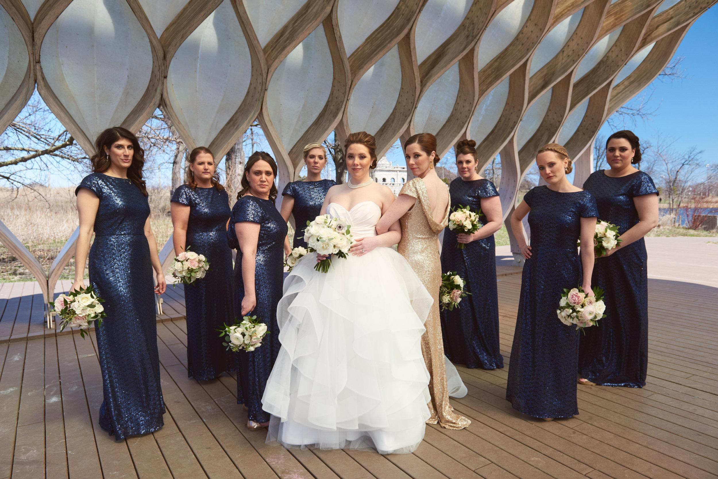 Classic bridal bouquet white bridesmaid bouquet Chicago