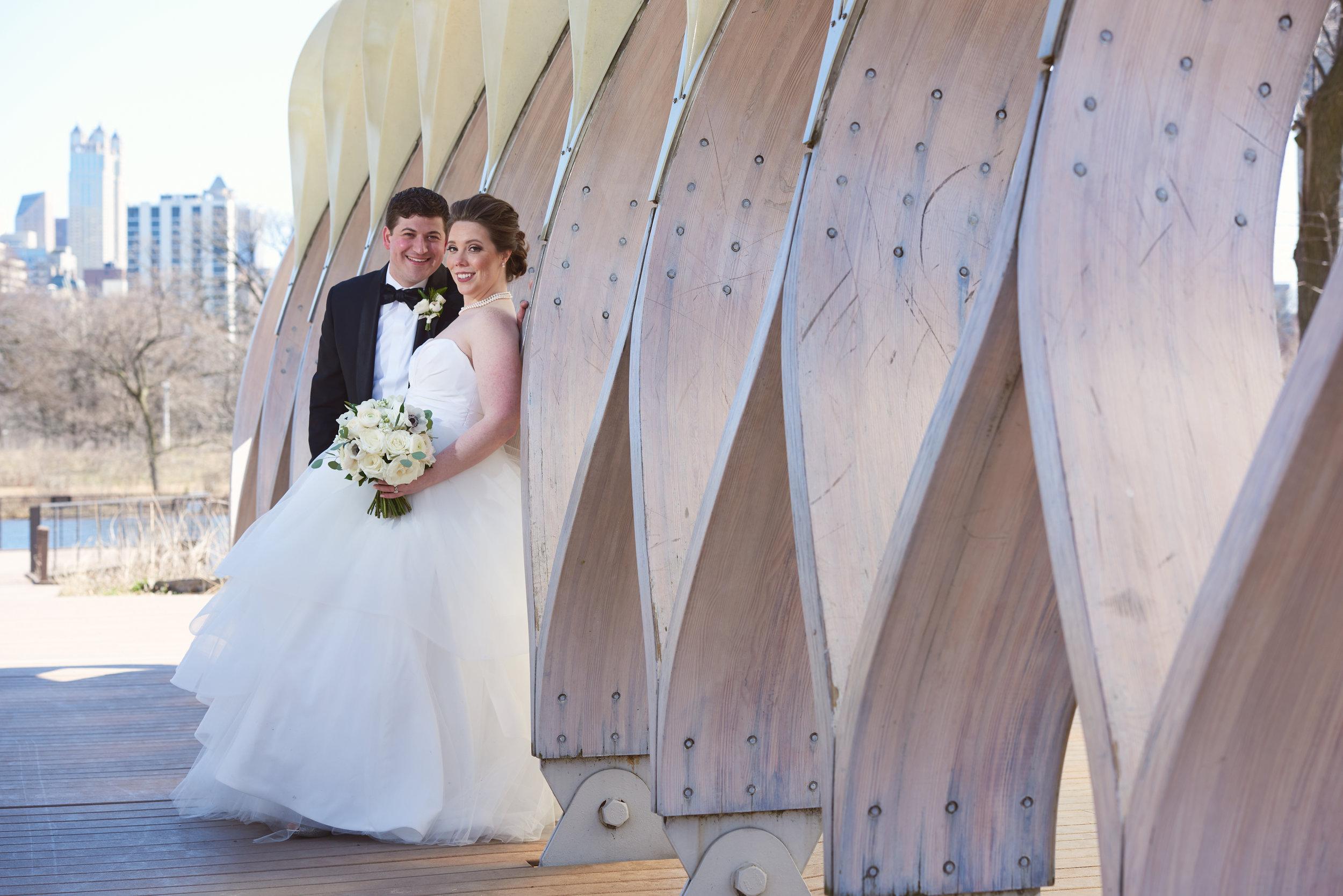 classic white bridal bouquet chicago
