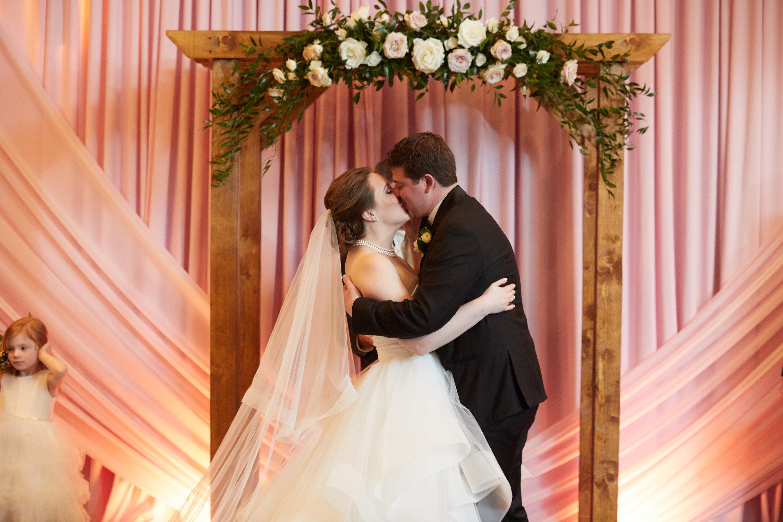 Floral arch Chicago wedding Kimpton Gray Hotel