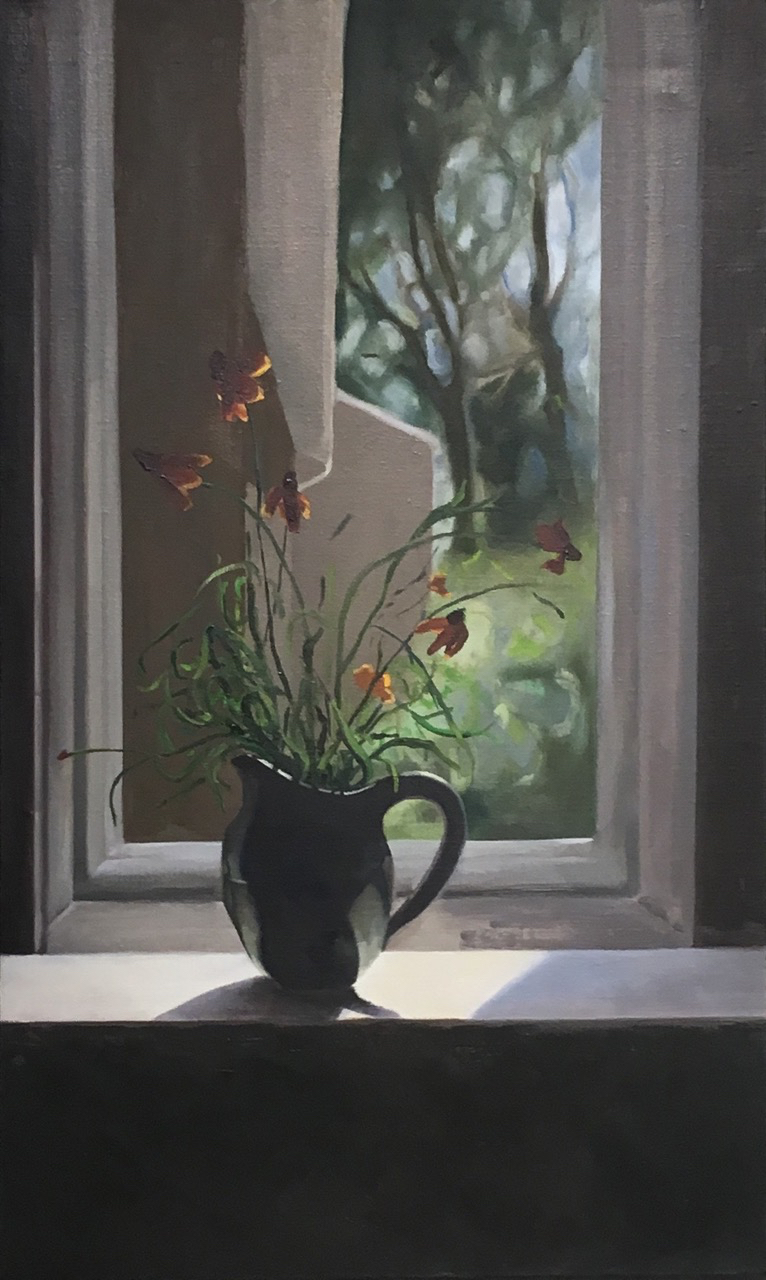 Cut Flowers in Black Creamer