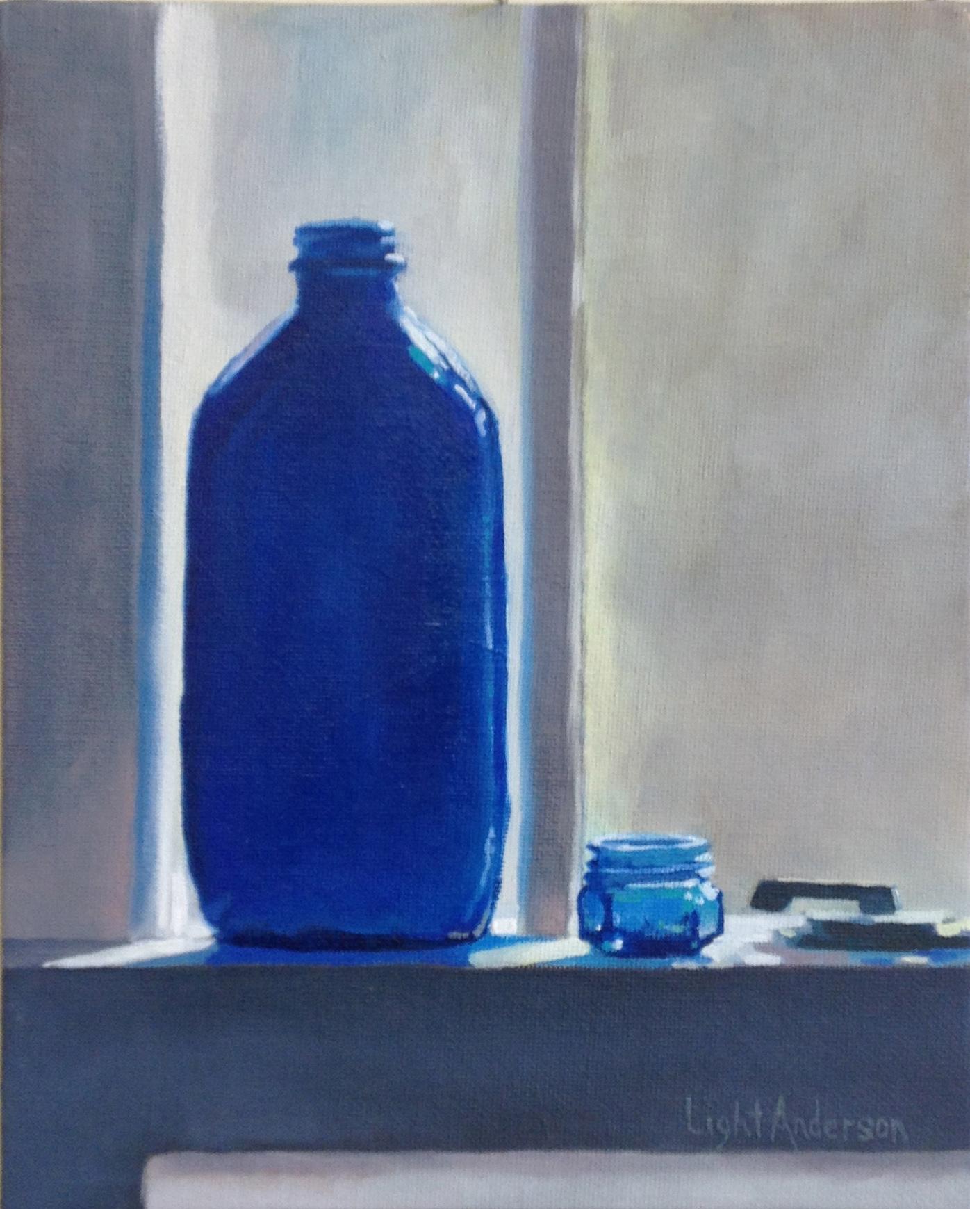 Blue on Window