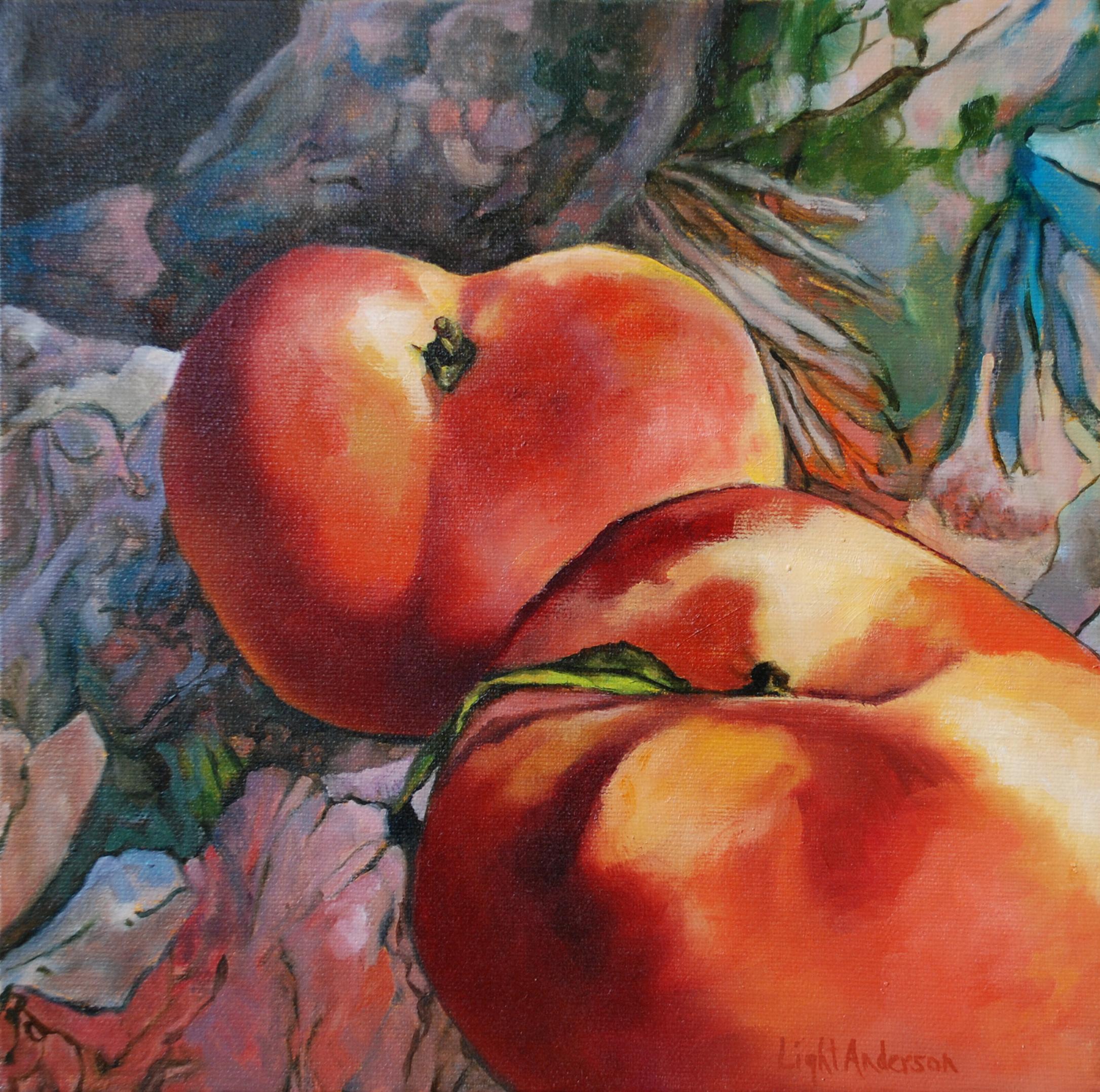 Saturn Peaches on Fabric