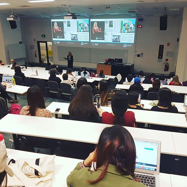 @smminstitute CEO,  @mireilleryan was invited to speak to the University of Qld postgraduate students studying the Social Media Management Unit about the exciting opportunities in the Social Media Industry