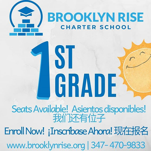 Is your Kindergartener ready to #RISE into 1st grade? Join our Founding Family TODAY!🎓 We'll get them there together #WithConfidence #WithVoice and #WithPurpose 📚. #togetherweRISE #bkRISE #brooklynRISE #sunsetpark #sunsetparkbrooklyn
