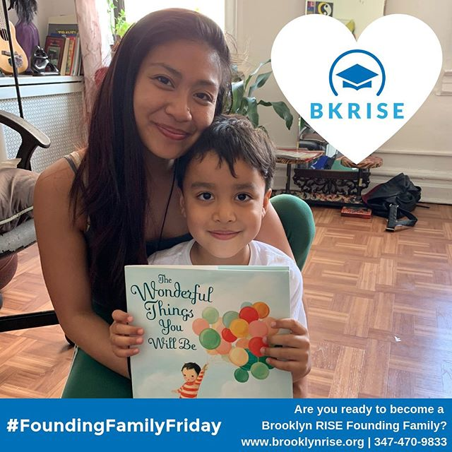 "Happy #FoundingFamilyFriday 😄 Each week we get to meet with more of our Founding Families and we make sure to give every future Brooklyn RISE student one of our favorite books, ""The Wonderful Things You Will Be"". We deeply believe in the wonderful things all of our students will become and we can't wait to work alongside our families to help support our students in realizing their dreams! . . If you are ready to join the Brooklyn RISE family, go to our website or call us at 347-470-9833 to enroll your Kindergarten or First Grade Student today! . . #brooklynRISE #bkRISE #withconfidence #withvoice #withpurpose #togetherwerise #foundingfamilies #sunsetpark #community #readbabyread"