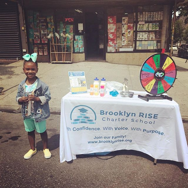 We had a great day at the @sunsetparkbid Summer Plaza Weekend Walk event on 5th ave in Sunset Park! . . One of our enrolled Founding First Grade students stopped by to say hello 👋 . . We love getting to become part of the 5th Ave community in Sunset Park and getting the chance to talk with families about Brooklyn RISE 😊 . . #brooklynRISE #bkRISE #withconfidence #withvoice #withpurpose #togetherwerise #sunsetpark #community