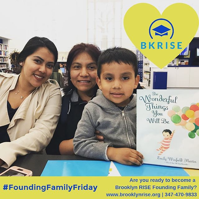 Happy Founding Family Friday! 🥳 . . Each week we get to meet more of our future students and their families - they are the best and we can't wait for school to start in August! . . Limited Kindergarten and First Grade seats are still available, enroll today to join our Founding Family 😊 . . #brooklynRISE #bkRISE #withconfidence #withvoice #withpurpose #togetherwerise #sunsetpark #foundingfamilies