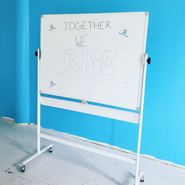 Today is #facilityfriday!! Our school facility is still a work in progress, but the walls were painted this week and we are pretty excited about the Brooklyn RISE blue accent walls 🤩 . . Painted walls mean we are one step closer to welcoming our amazing students and families into our school, and we can't wait 😁 . . We have less than ten seats still available for the 2019-2020 school year. Interested in enrolling your Kindergarten or First Grade student? Call us at 347-470-9833 or visit www.brooklynrise.org to join our Founding Family today! . . #brooklynRISE #bkRISE #withconfidence #withvoice #withpurpose #togetherweRISE #sunsetpark #community #foundingfacility #foundingfamilies