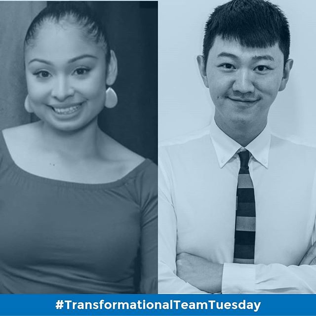 "It's #TransformationalTeamTuesday! 🎉 . . Meet our amazing Operations Team!  Lupe is our Family & Operations Coordinator and Junlin is our Office Coordinator. . . Family & Operations Coordinator Guadalupe Nolasco is a lifelong resident of Sunset Park with a passion for working with young children and diverse families in various roles. She has worked as a counselor for the Boy Scouts of America at city-wide low-income designated schools, and, has experience teaching in a social-emotional based after-school program. More recently, she upheld a role as Assistant Director at a pre-school in Clinton Hill. Lupe understands that family involvement can be vital to the success of a child's education. From working closely with immigrant families, and from her own experience as a mother, and Mexican-American, she understands how difficult it can be at times to find resources. It is personal to Lupe to provide families and students access to a high-quality education, opportunities, and initiatives as she wished someone had helped her during her elementary years. Lupe obtains an Early Childhood Education degree from the Borough of Manhattan Community College and Brooklyn College. She is enrolled at Baruch College and is pursuing a Master's degree in Public Affairs. Lupe's motto is ""thinking, exploring, creating and inspiring."" . . Office Coordinator Junlin Zhu, is a first-generation immigrant currently residing locally in Sunset Park. Having graduated from New York University with a BFA in Photography and Imaging, he is passionate about promoting Asian representations in the US and representations of immigrants in general. He began working in education administration while in undergrad, and has had various experiences working with both domestic and international students. As a first-generation college graduate, Junlin understands the unique struggles certain bodies of students face and realizes the importance school administration has in assisting individual students with their specific needs. That understanding, and desire to ensure that equal access to education is made to as many individuals as possible, has led him to continue working in education administration."