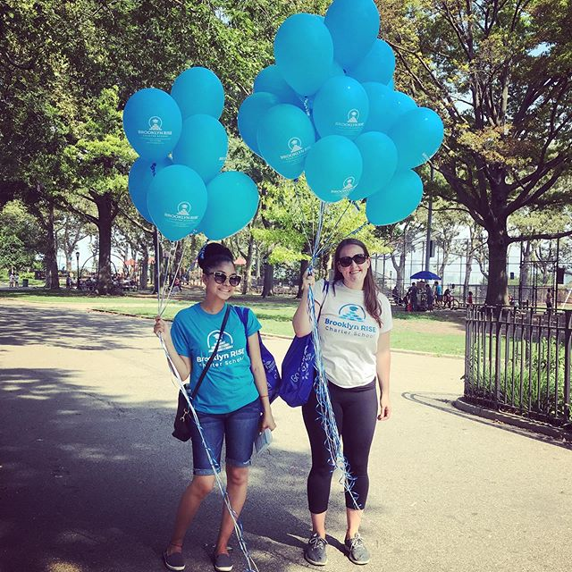 Our team braved the heat this weekend to get out the word to Sunset Park families about our last remaining Kindergarten seats ☀️ . . Visit www.brooklynrise.org or call us at 347-470-9833 if you are interested in joining our Founding Family for the 2019-2020 school year 🤓 . . #brooklynRISE #bkRISE #withconfidence #withvoice #withpurpose #togetherwerise #sunsetpark #community #foundingfamily