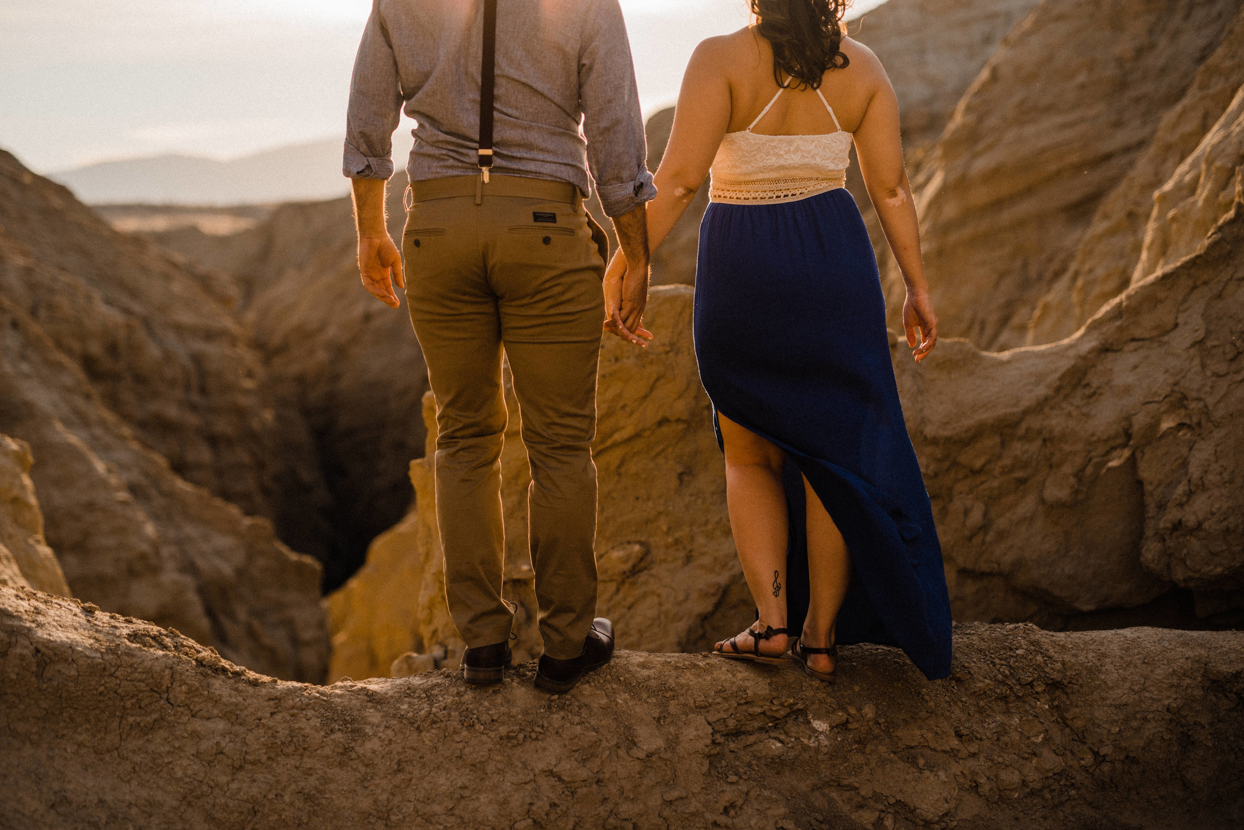 Christina and Mike | Anza-Borrego Desert State Park Engagement Session | LA intimate wedding photographer