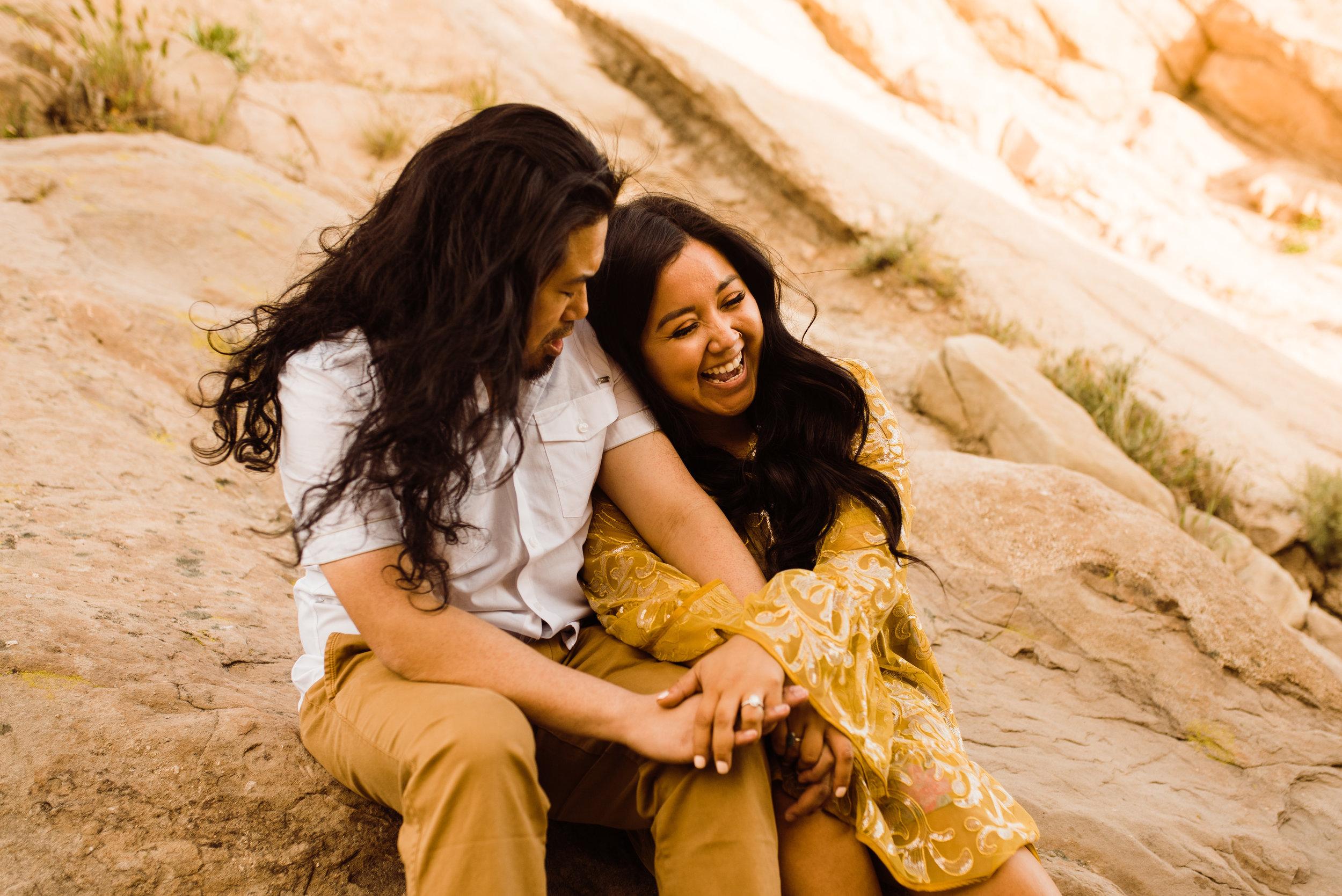 Vasquez Rocks Engagement Shoot, Intimate Wedding Photographer