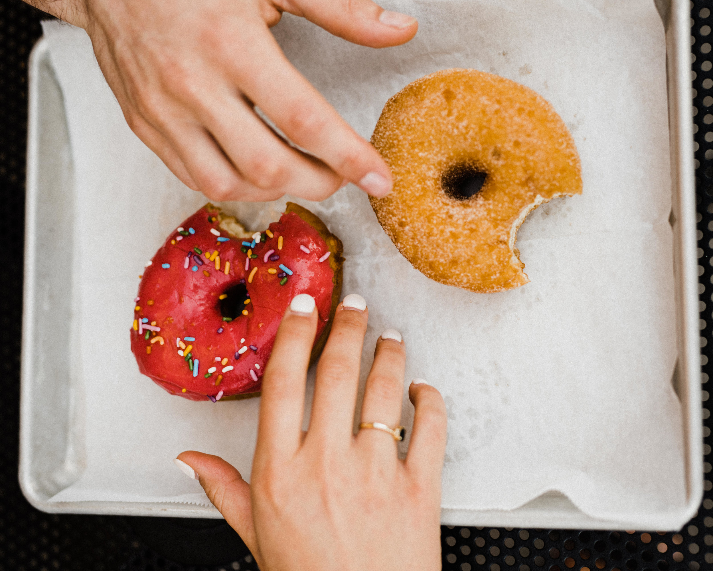 Atlanta couples session, Atlanta engagement photographer, Donut shop couple session, Revolution Donuts