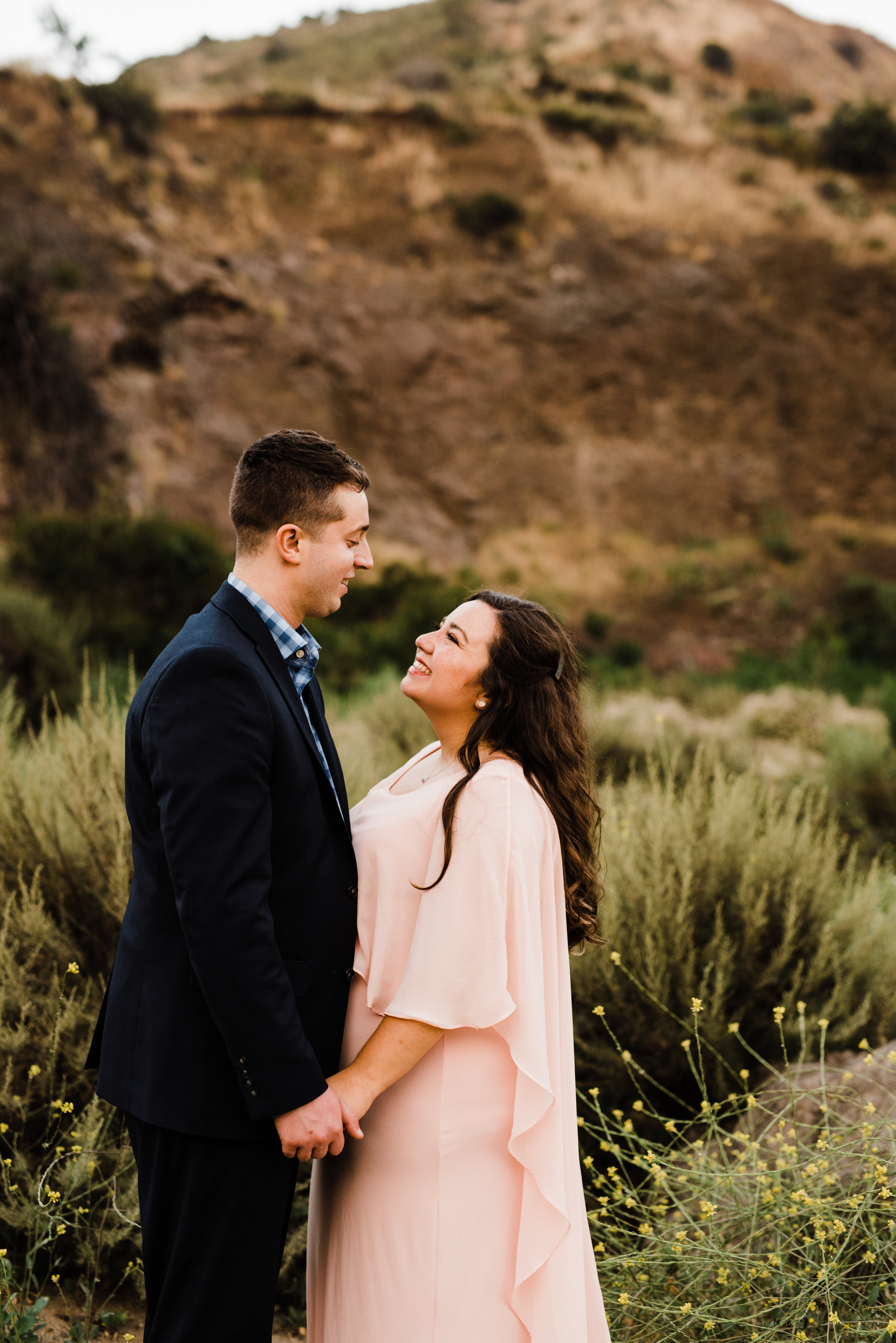 Fields, Wildflowers, and Trails - this couple explored it all at their adventurous LA engagement session
