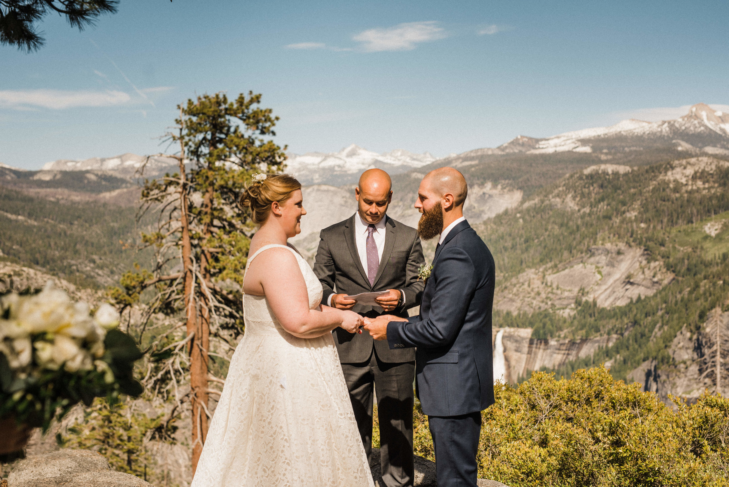 Elopement Ceremony at Glacier Point in Yosemite