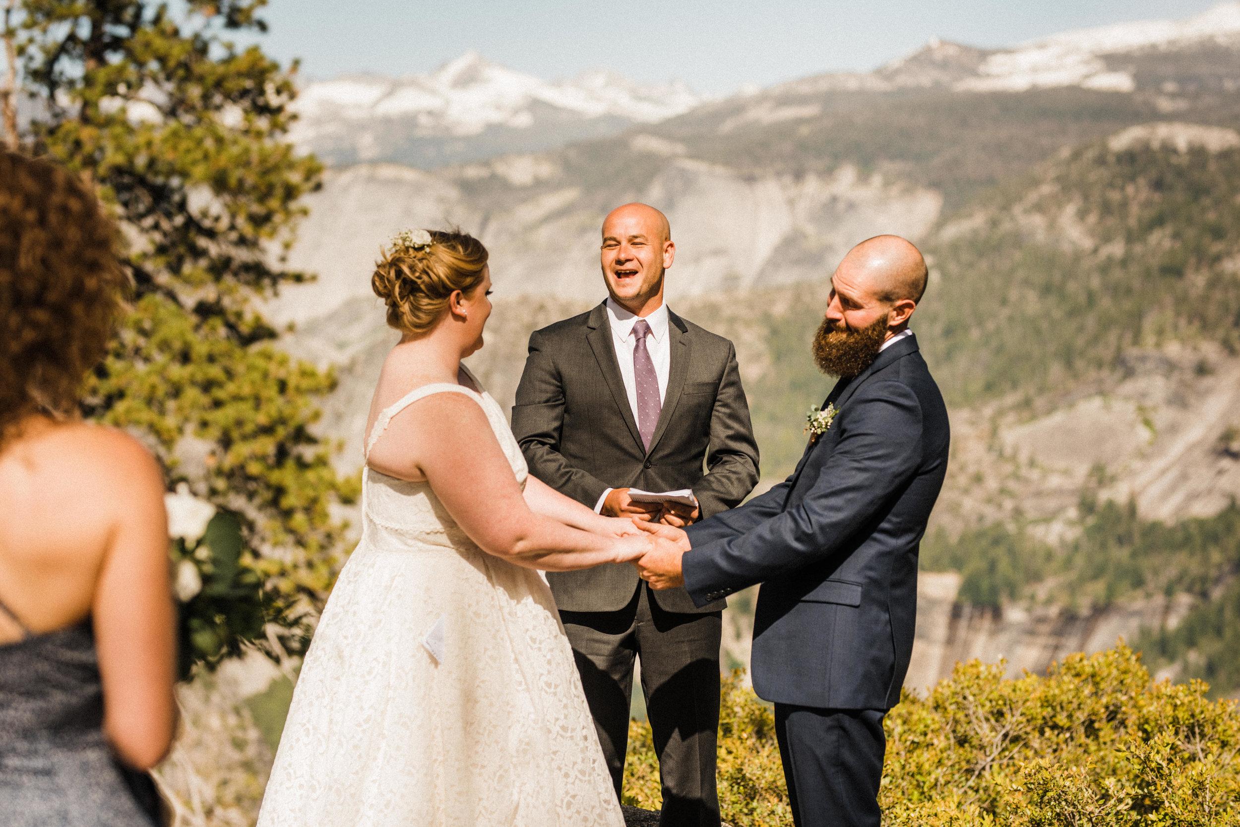Ceremony at Glacier Point in Yosemite National Park