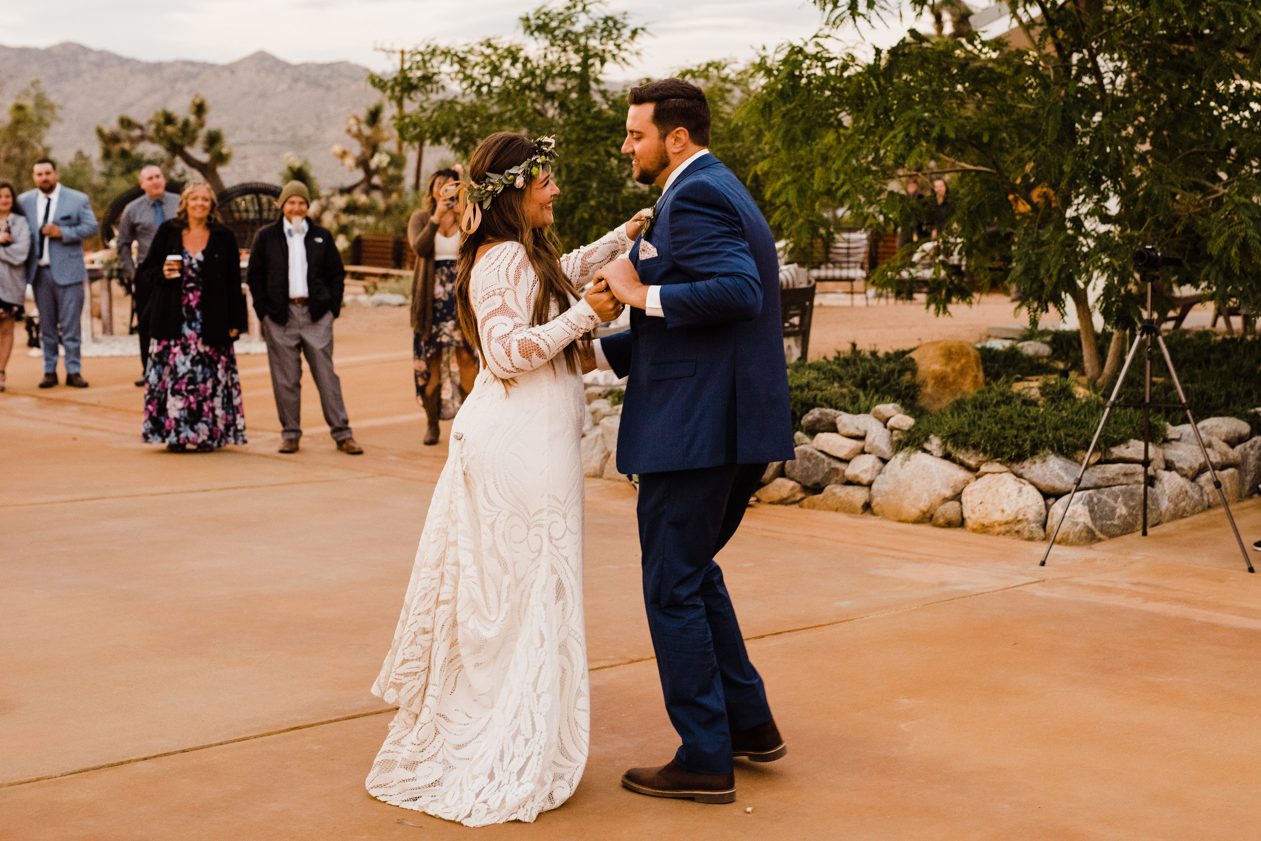 First dance as husband and wife at Tumbleweed Sanctuary Reception Area