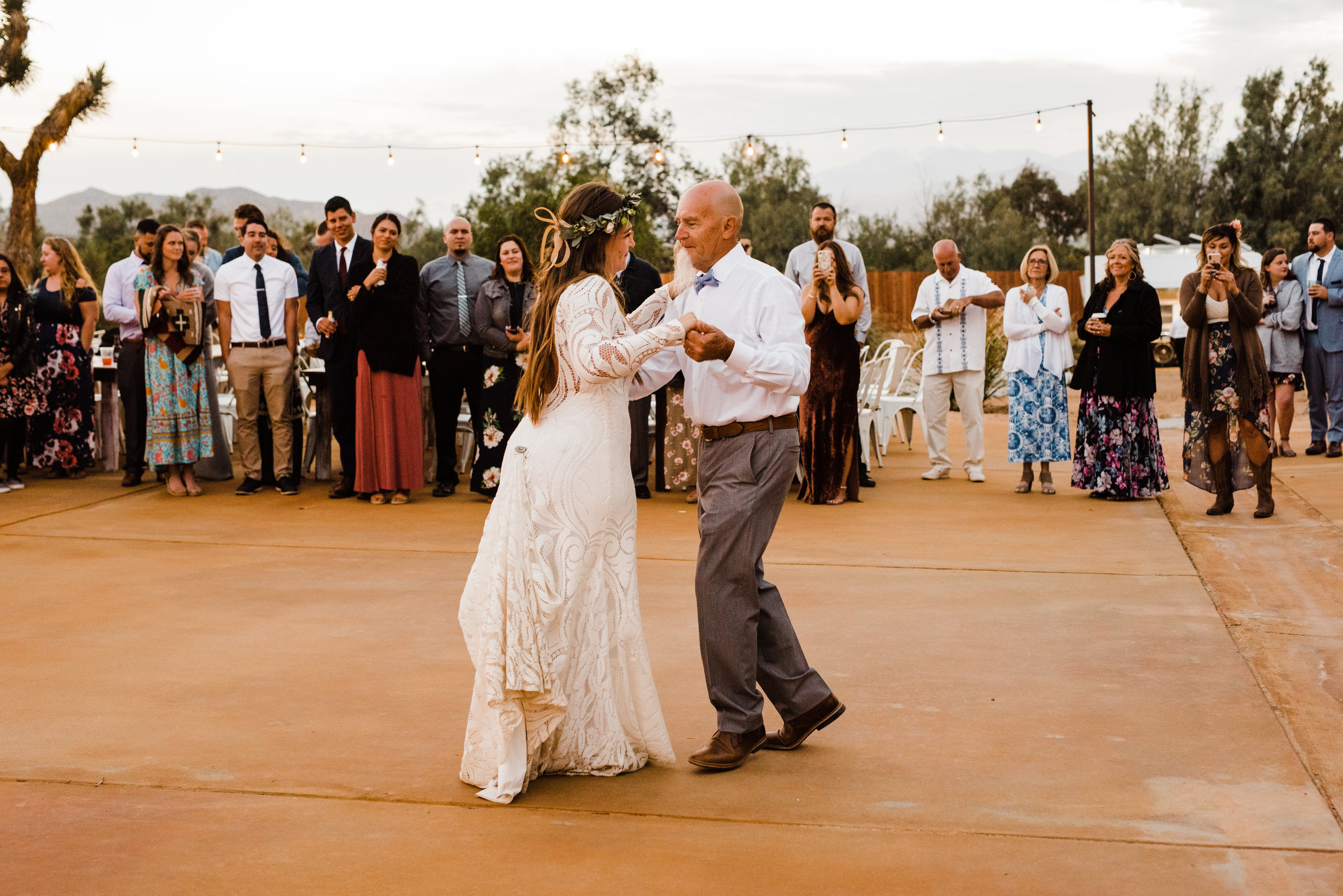 Father Daughter dance at Tumbleweed Sanctuary Reception