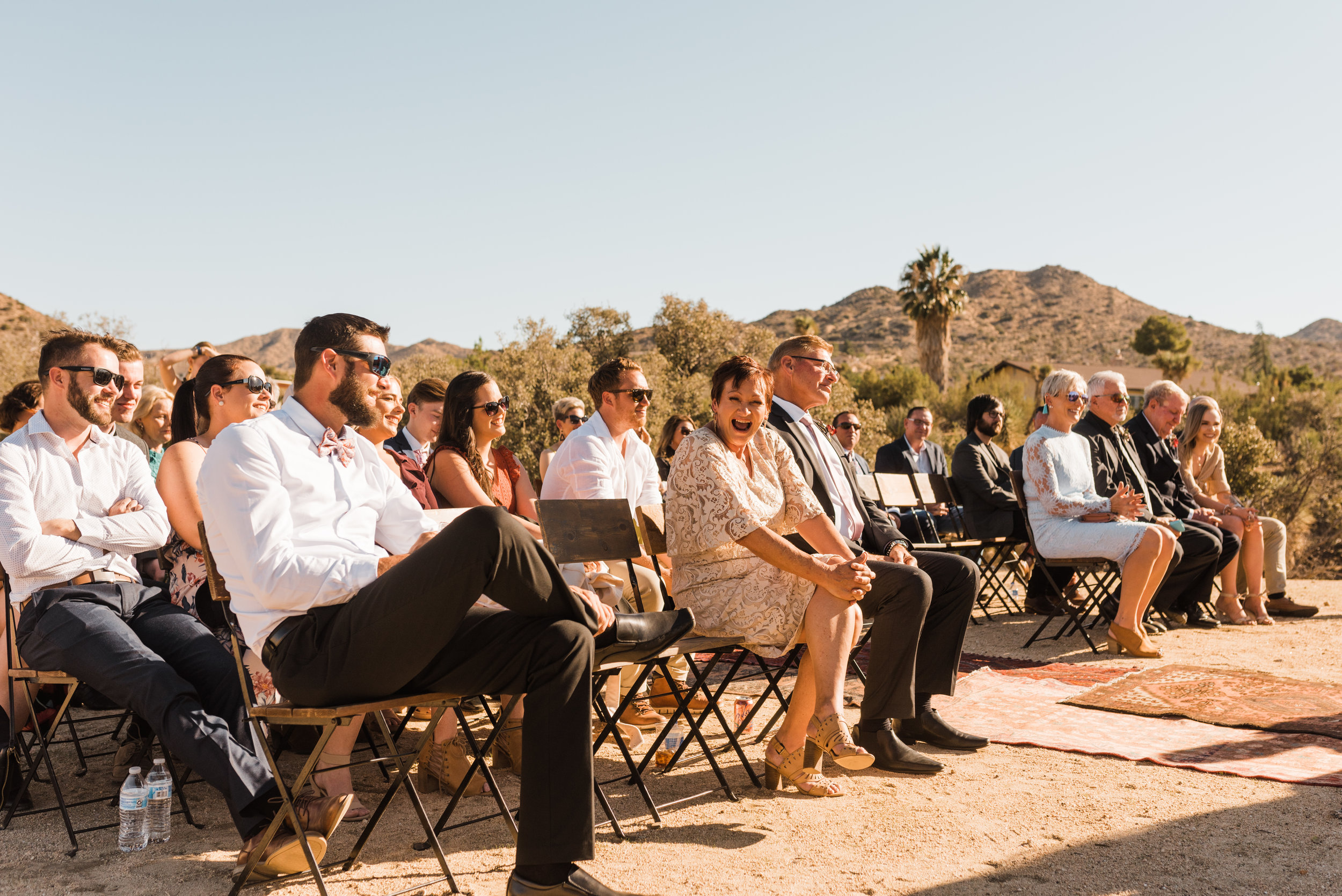 Intimate Ceremony with Joshua Tree in the background