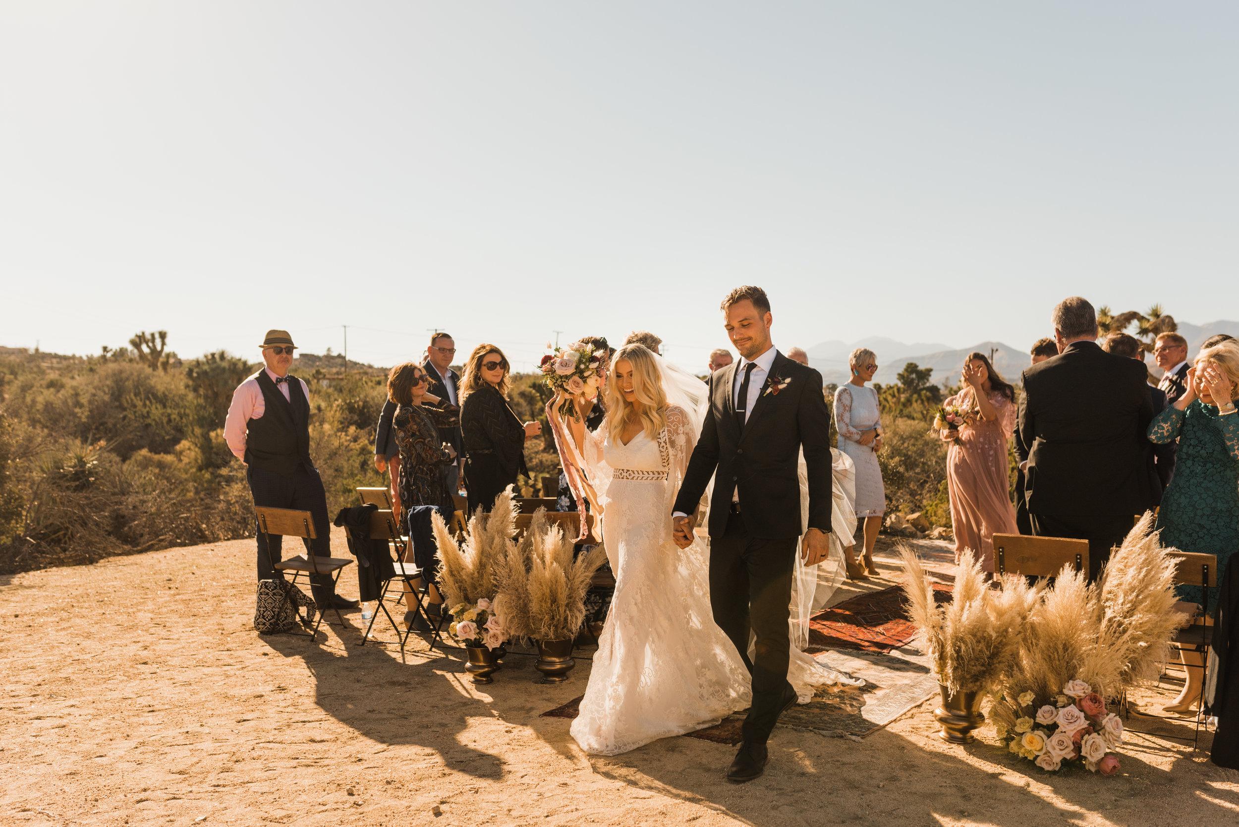 Intimate Wedding Ceremony in Joshua Tree, California