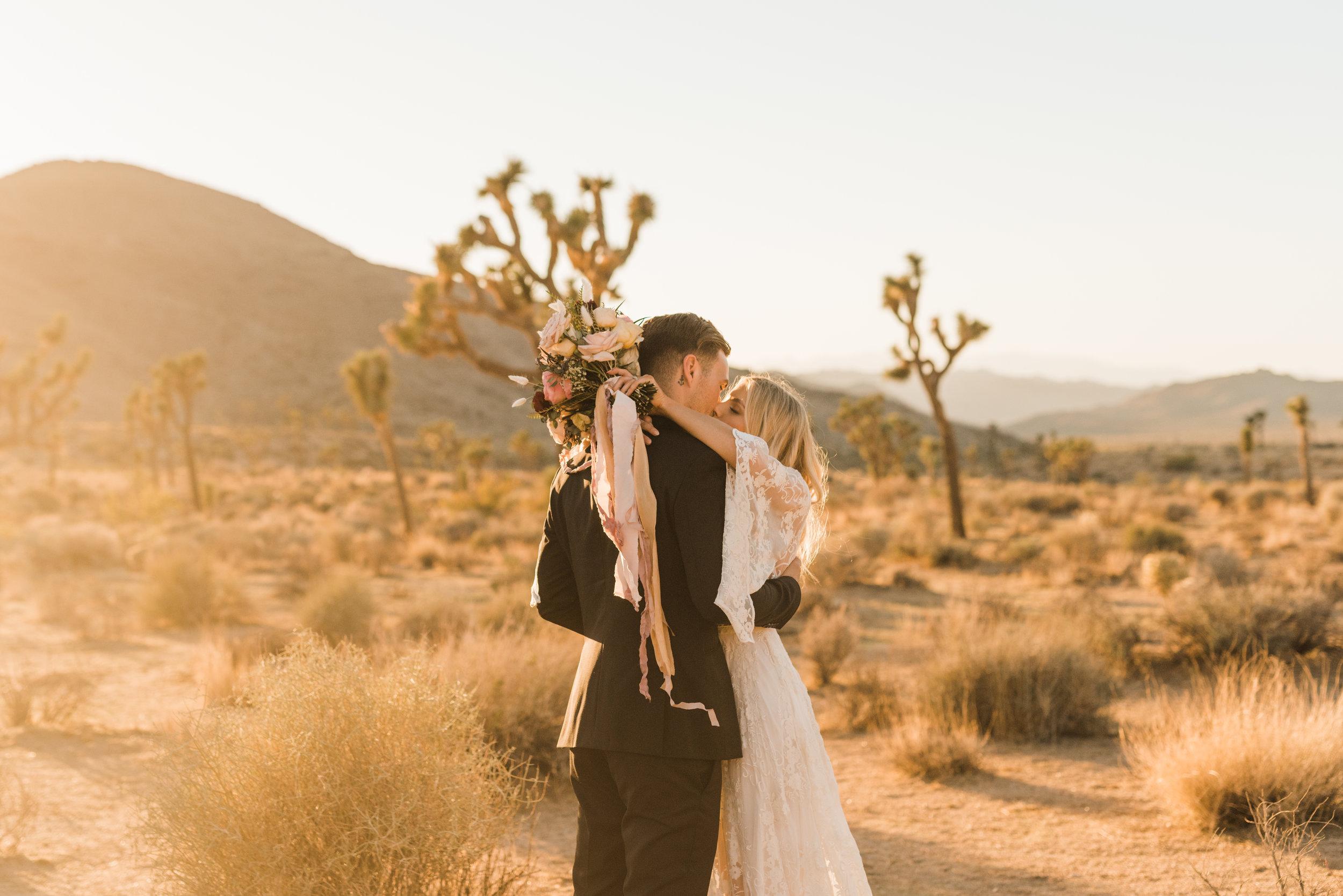 Joshua Tree Elopement Couple