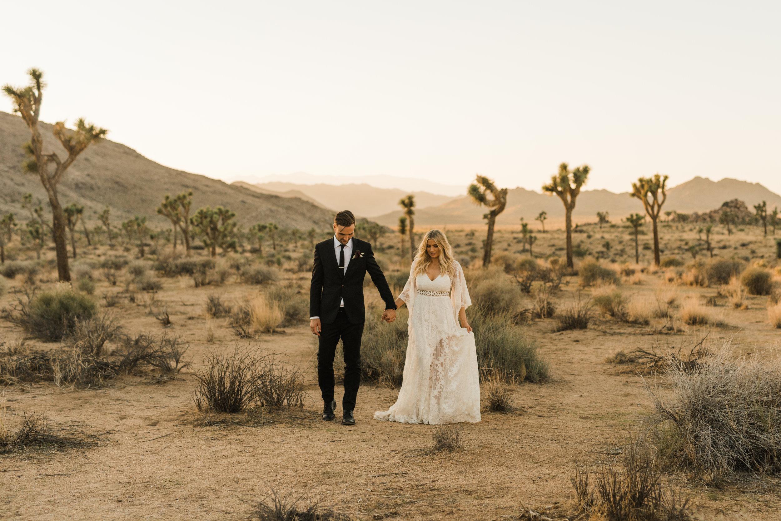 Joshua Tree Desert Elopement Wedding