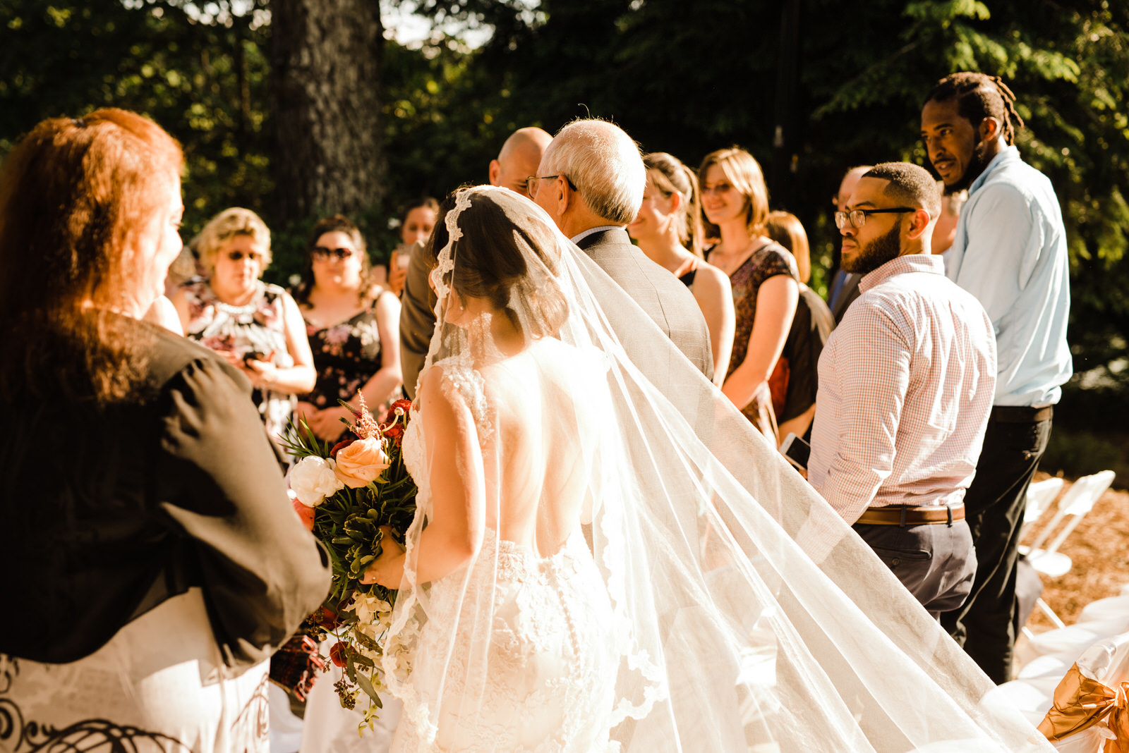 Brides Cathedral Veil at Roswell River Landing