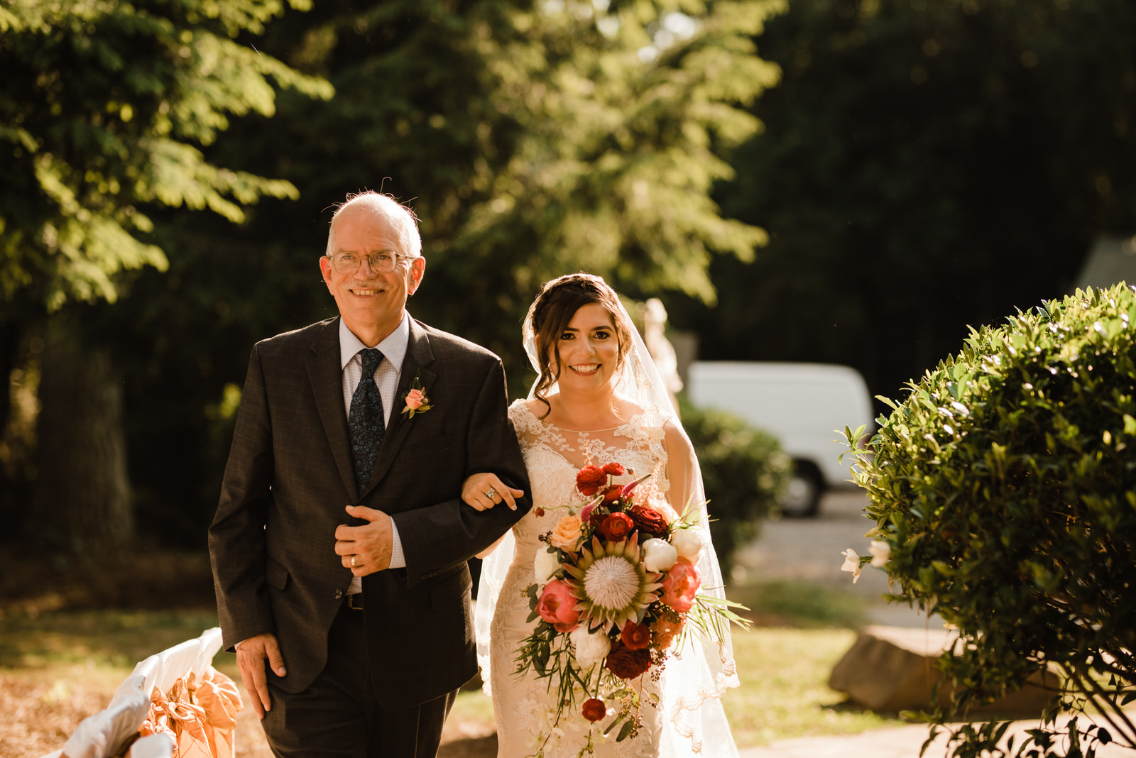 Bride and her Father at Roswell River landing