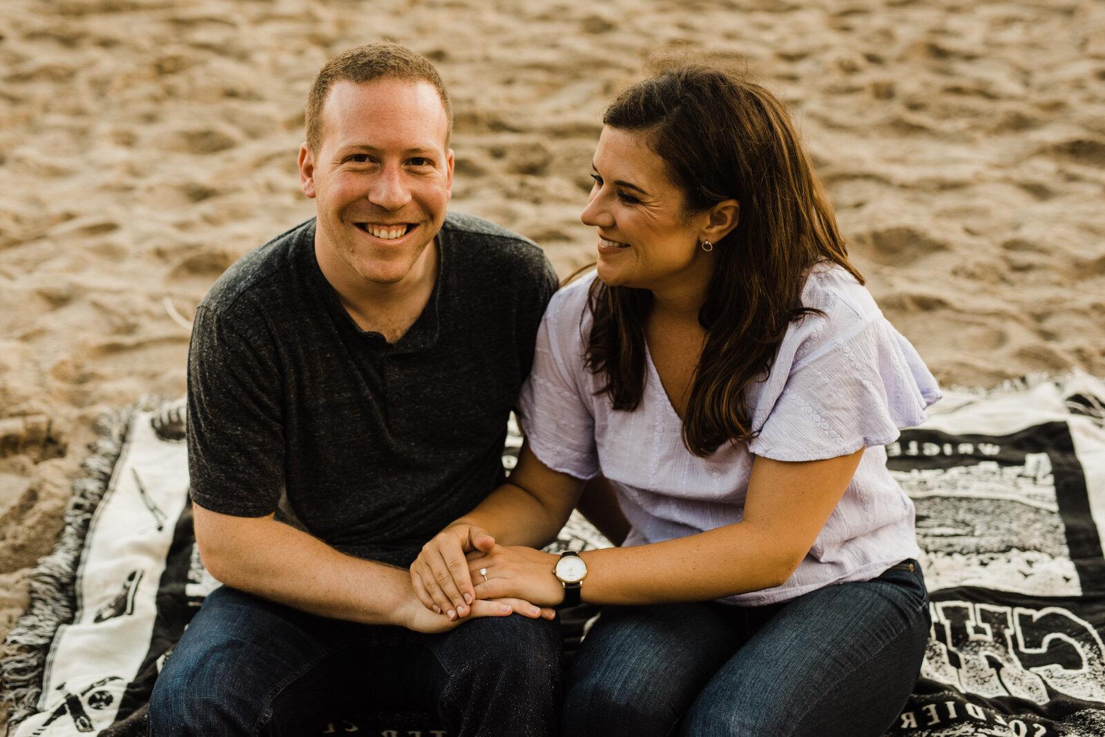 Engaged Couple at El Matador Beach