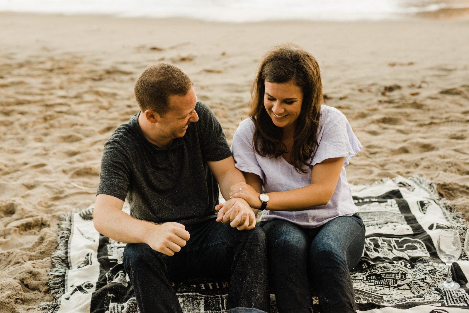 Romantic couple in Malibu