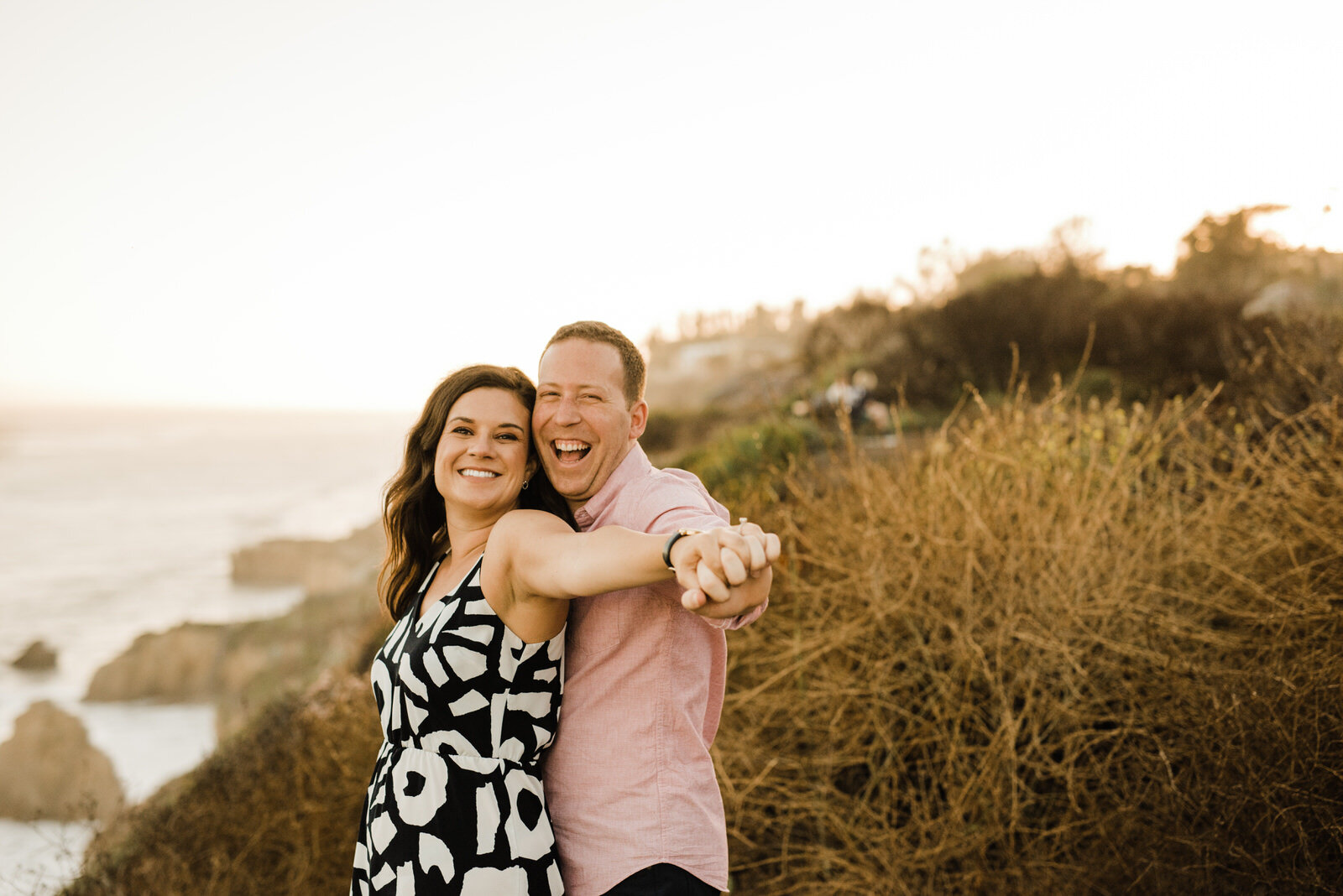 fun engagement photos at El Matador Beach