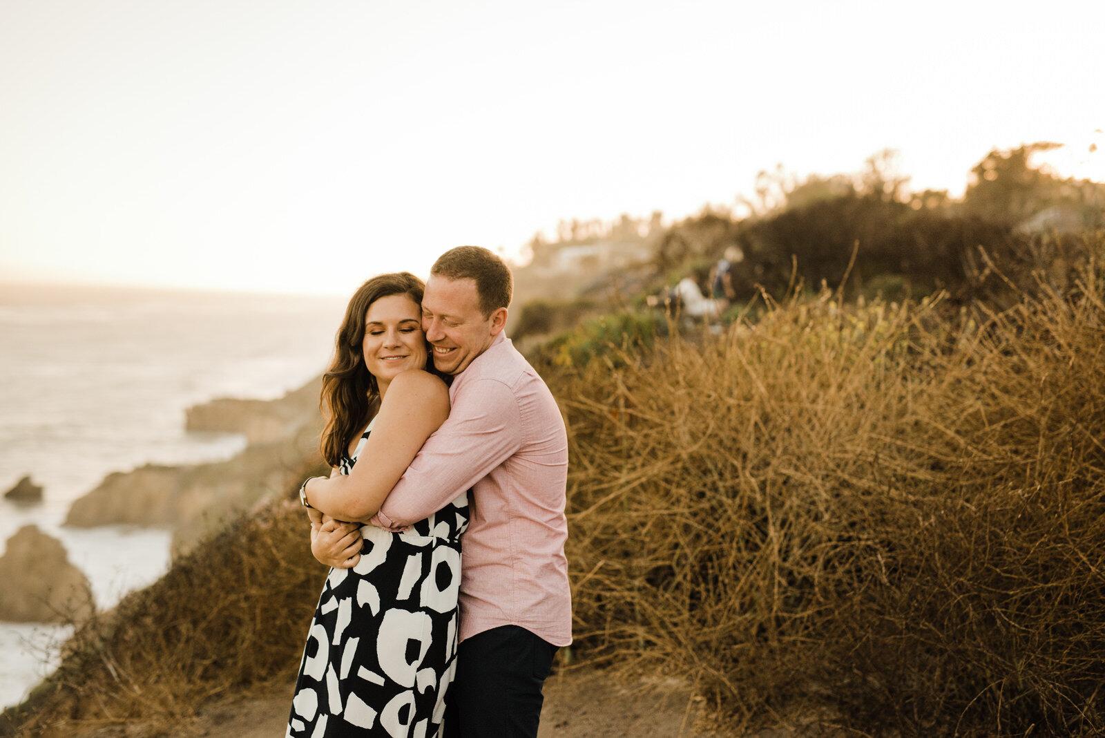 Romantic Engagement Session in El Matador Beach in California