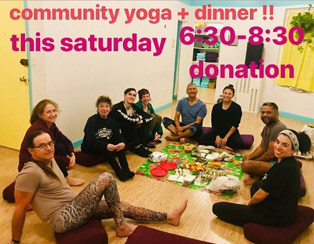 Come hang out with us @secondstorymovement and celebrate mother's day weekend with yoga + a vegetarian dinner!Sharib Khan teaches a passionate Iyengar style class and brings food from different venues in Jackson Heights. You know we got the good food here!  Sign up on our website! #jacksonheights #queensyoga #secondstorymovement