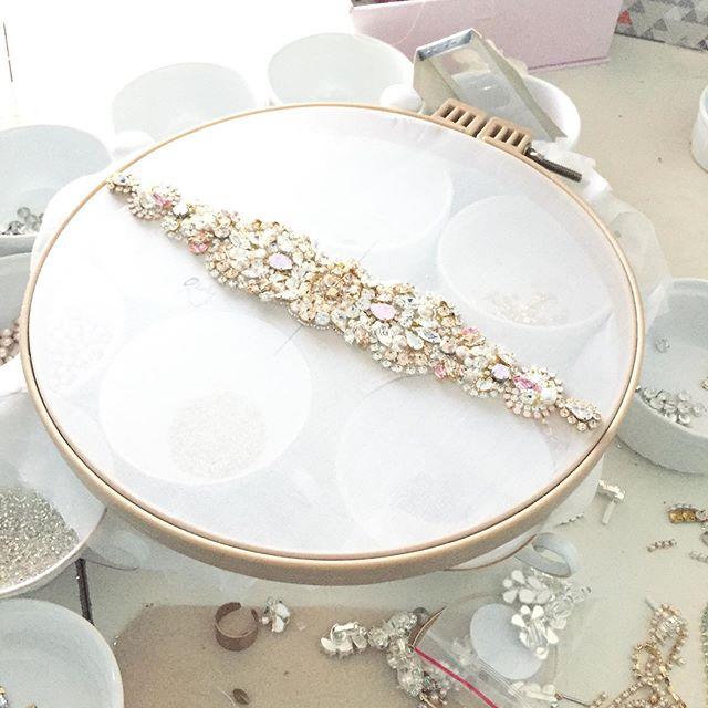 H A N D M A D E || #bridalaccessories #weddinggown #bridalbelt #weddingaccessories