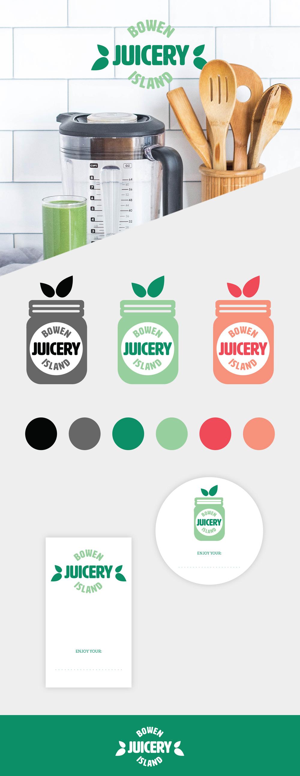 Logo design for a British Columbia juice company by Vancouver graphic designer, Jennifer Miranda Grigor //  jennifer-miranda.com