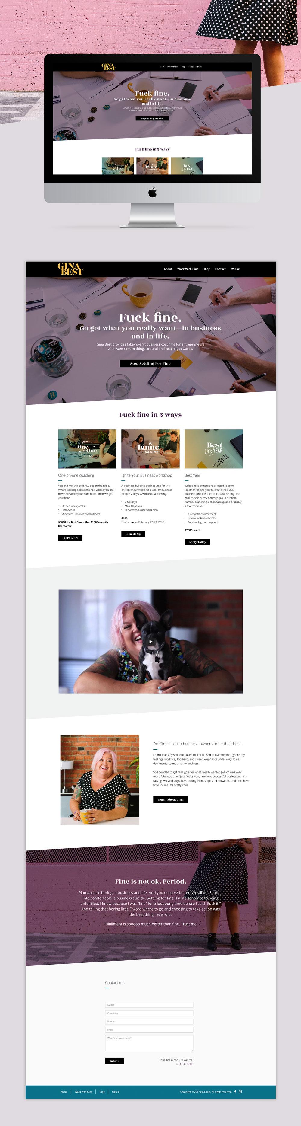 Web design by Vancouver designer, Jennifer Miranda Grigor //  jennifer-miranda.com
