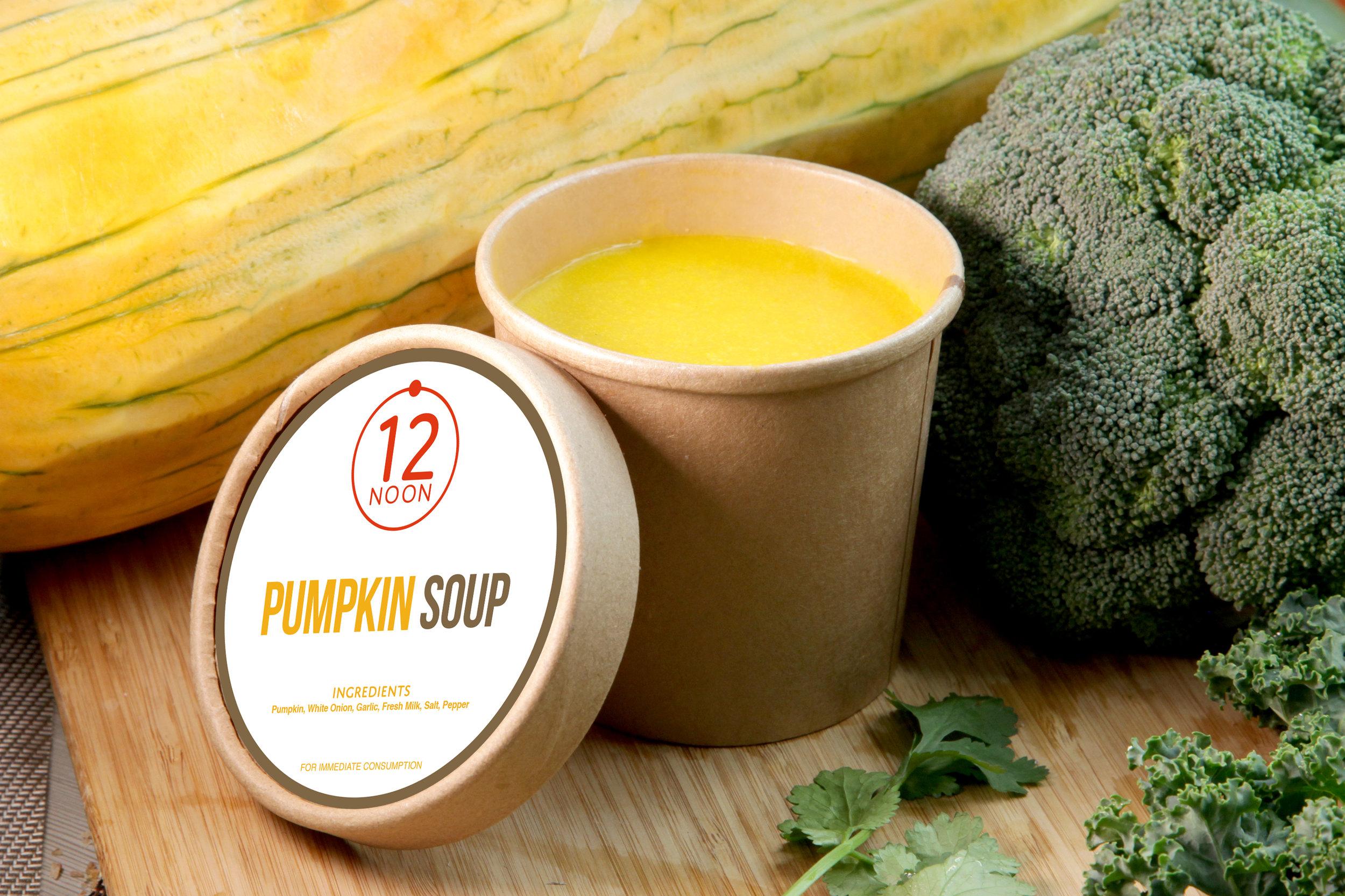 PUMPKIN SOUP - 78 KCAL PER SERVINGPumpkin, White Onion, Garlic, Light Cream, Salt, Pepper.$28