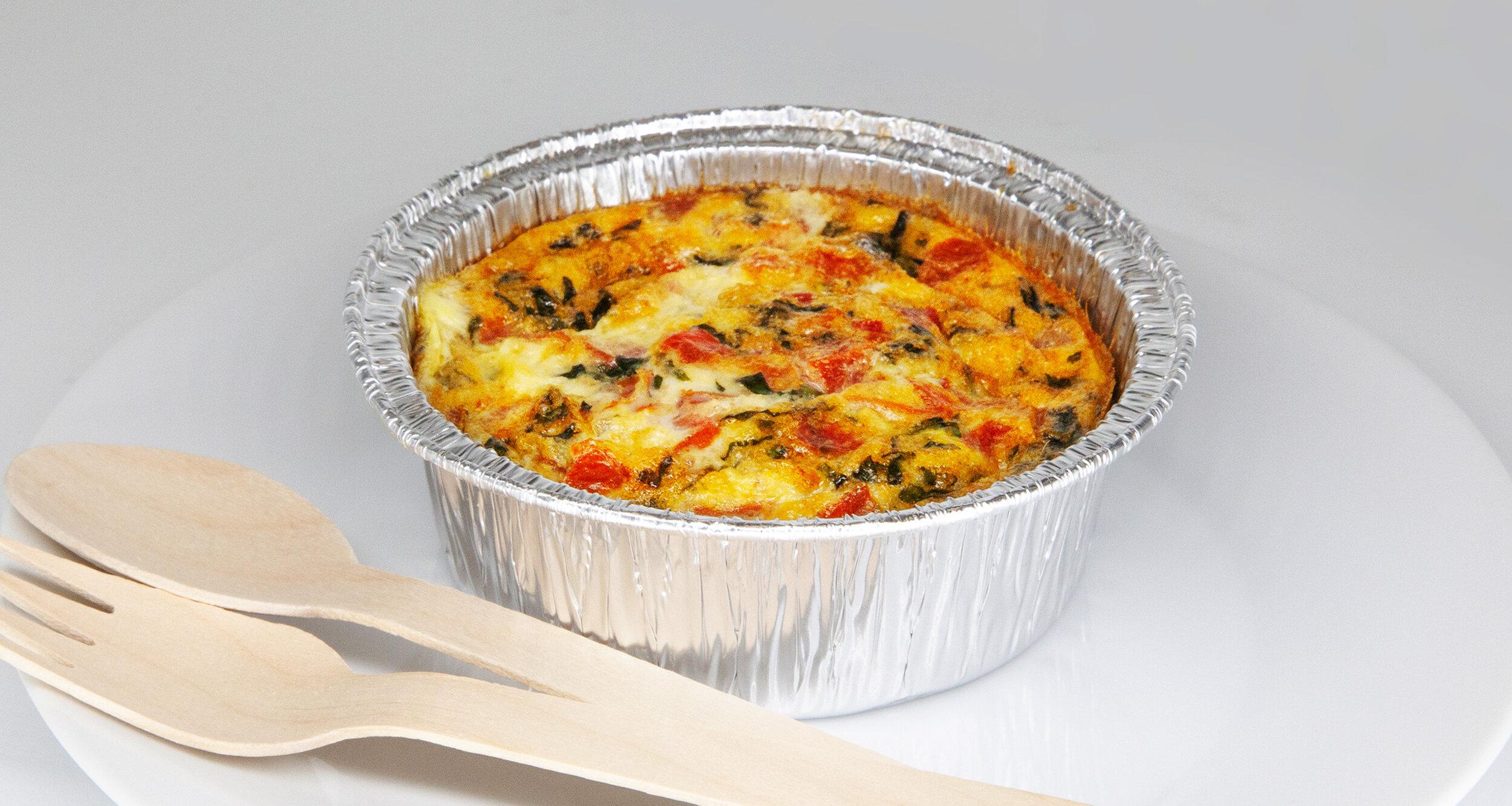 GOAT CHEESE EGG MUFFIN - 196.2 KCAL PER SERVINGEgg, arugula, tomato, goat cheese, salt, pepper$23