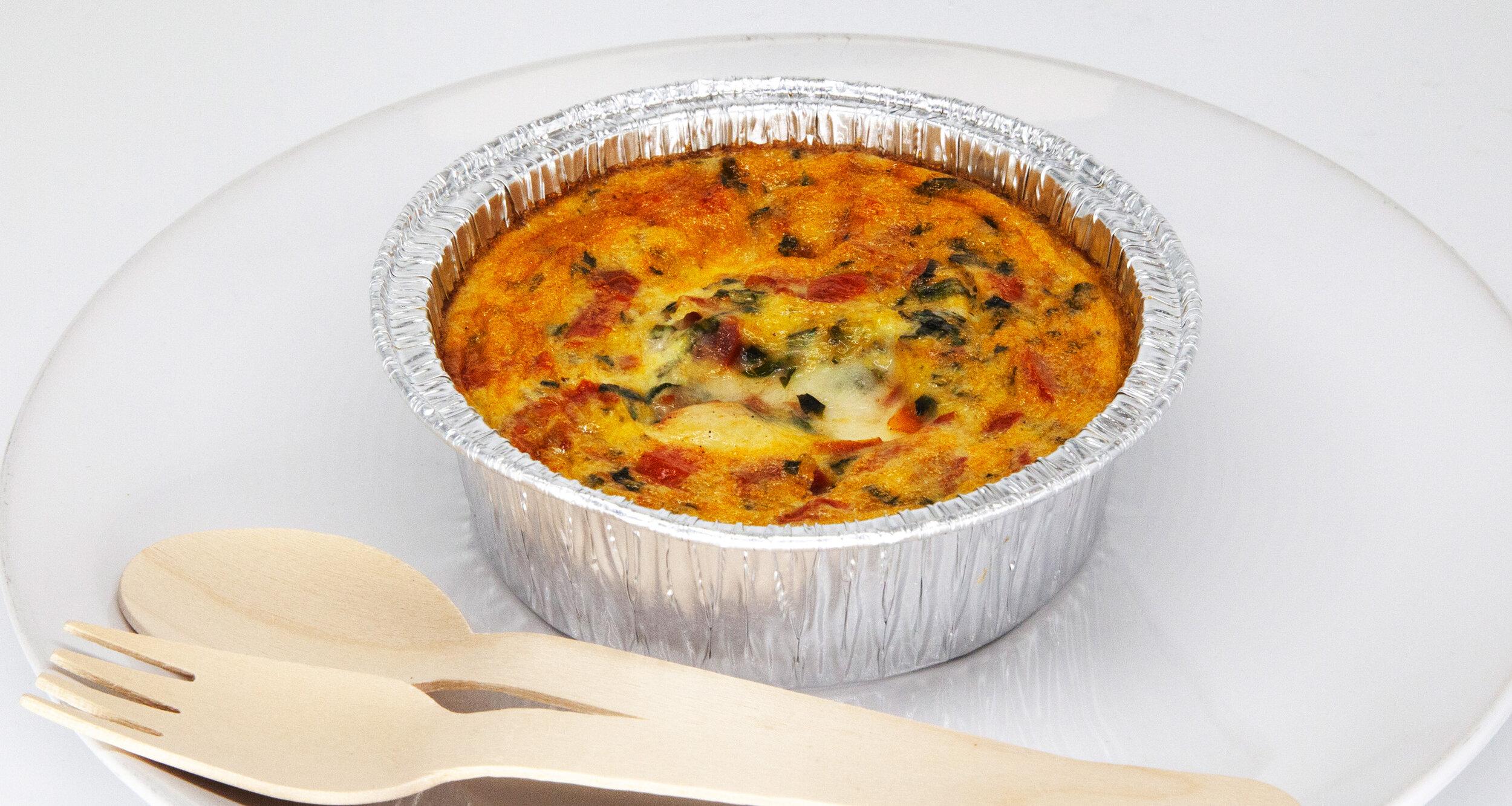 MOZZARELLA EGG MUFFIN - 256.5 KCAL PER SERVINGEgg, basil, mozzarella, tomato, salt, pepper$23