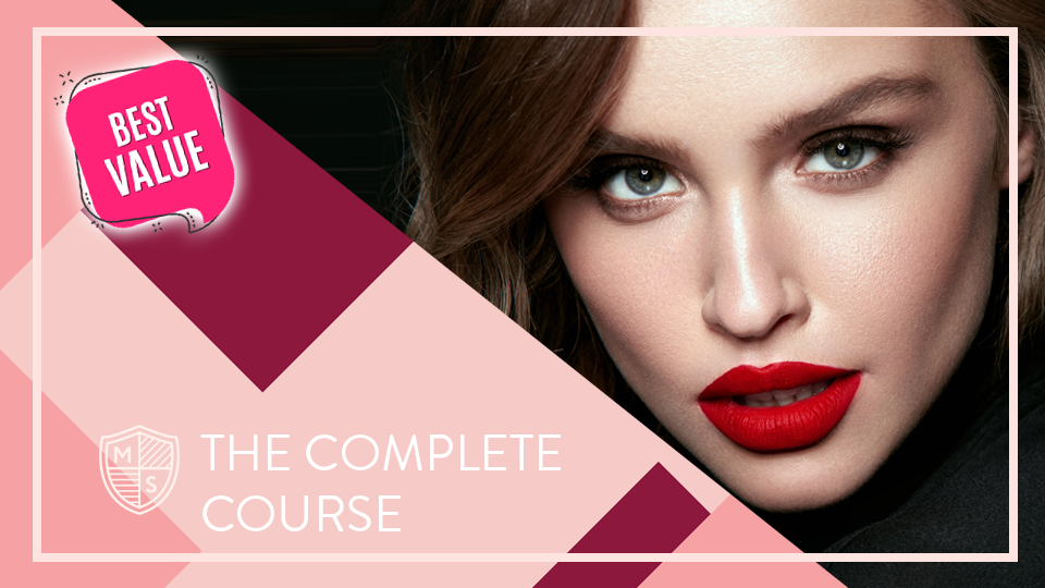 The Complete Makeup Course - Learn how to flawlessly apply every element of your makeup with our all-inclusive program. Get instant access to over 90 guided video lessons when you enroll. No driving to workshops, no babysitters required, simply learn new makeup skills from the comfort of your home.
