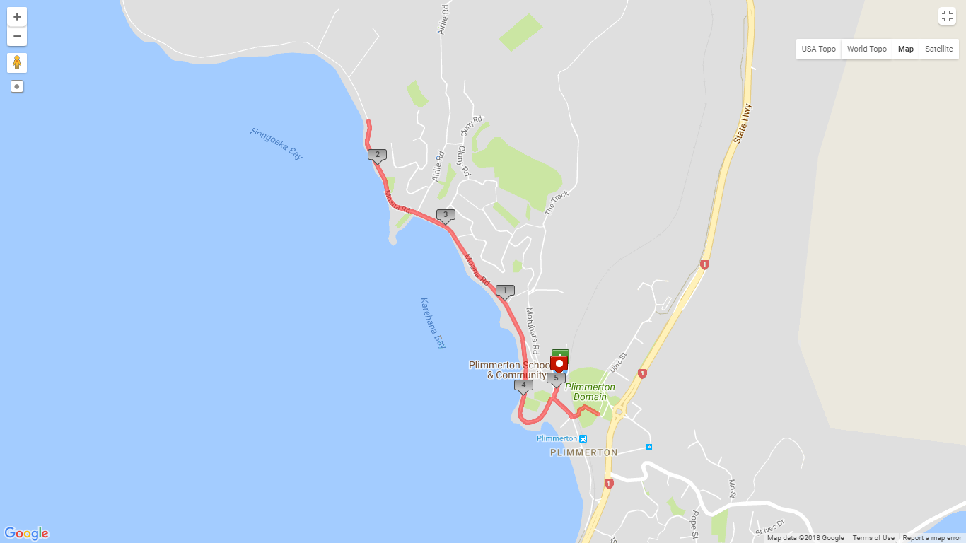 5km run or walk route.