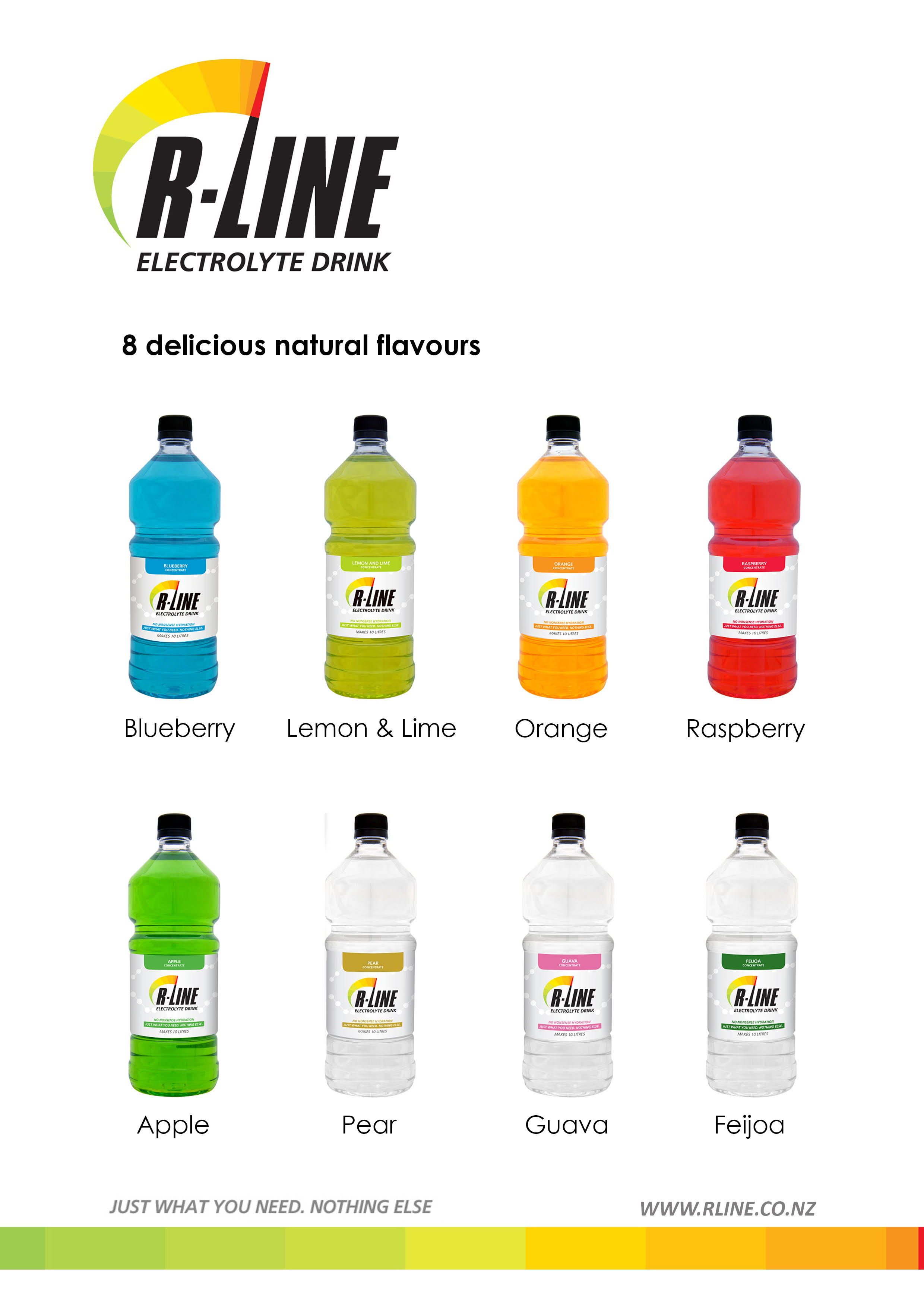 "R-Line - This electrolyte replacement will be available free at the start/finish line, if you would like some after your run.For 50% off Electrolyte Drink"" for bold part and underneath ""head over tohttps://rline.co.nz/and enter code EVENTDISCOUNT at check out *limit 3 per personThis is a concentrate- mix with water."