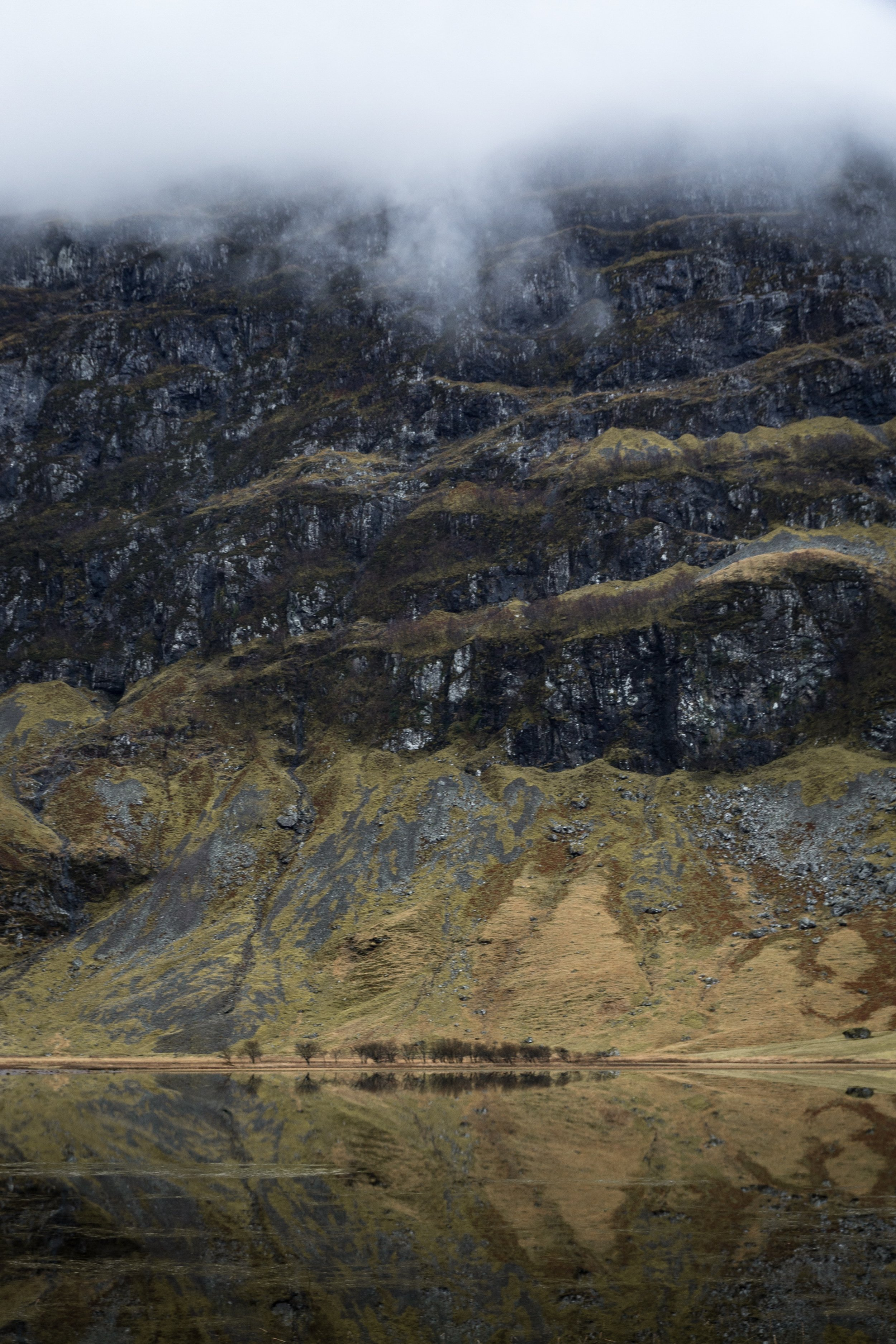 Reflections on a Lochan, Glencoe Valley, Scotland