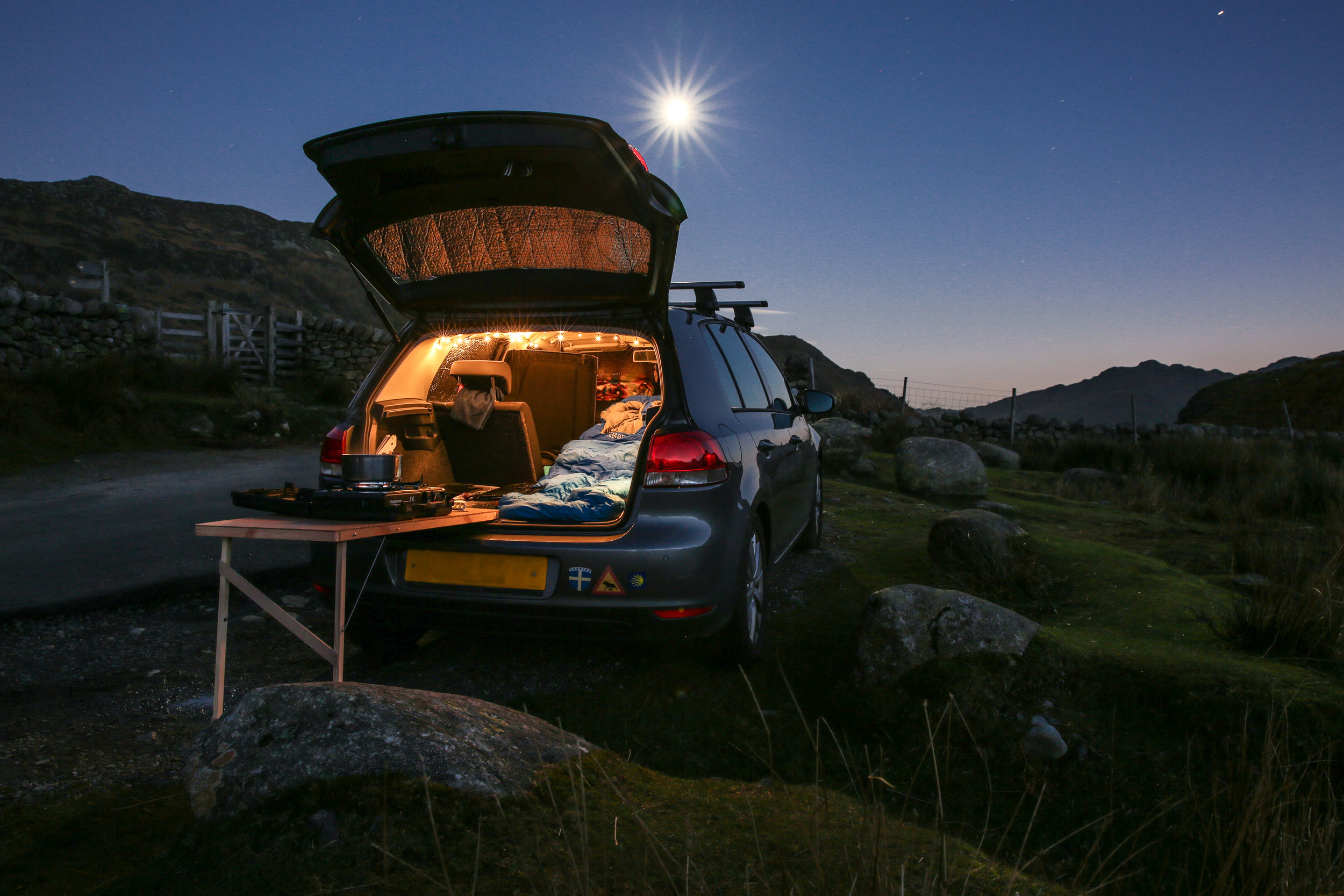 Car camping, Lake District