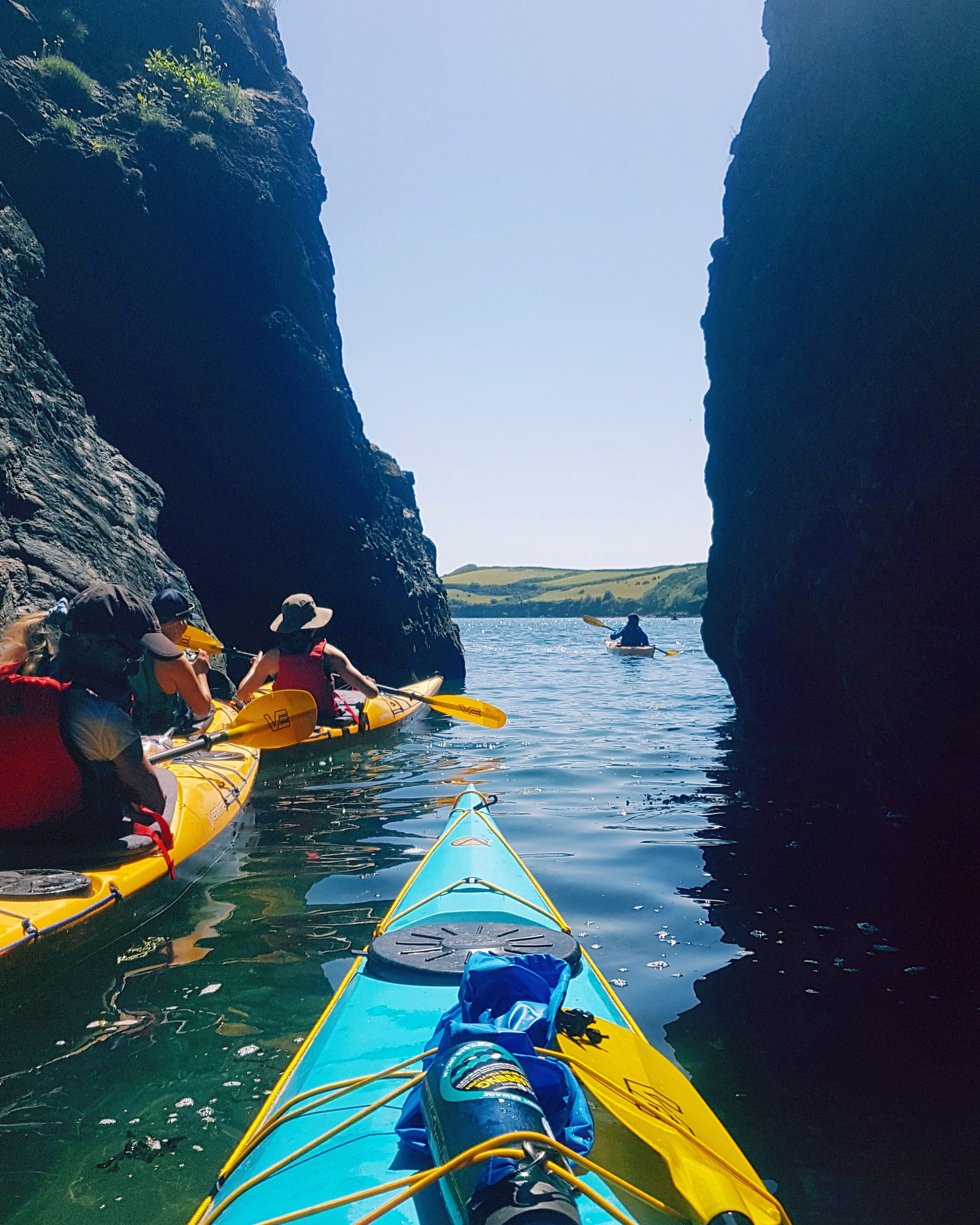 Sea kayaking, Cornwall