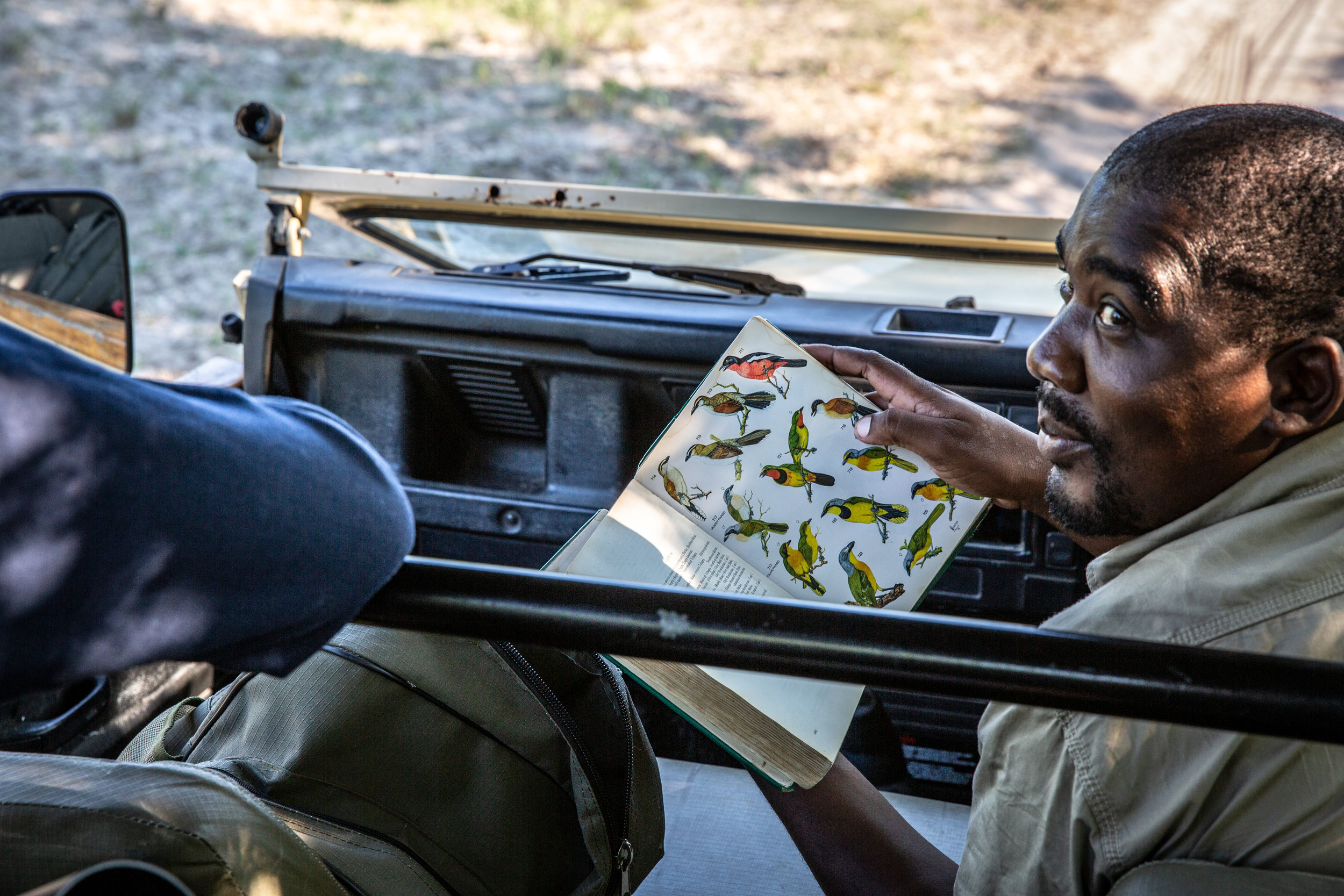 Keller, a safari guide in Botswana. In Partnership with  Leopard Plains